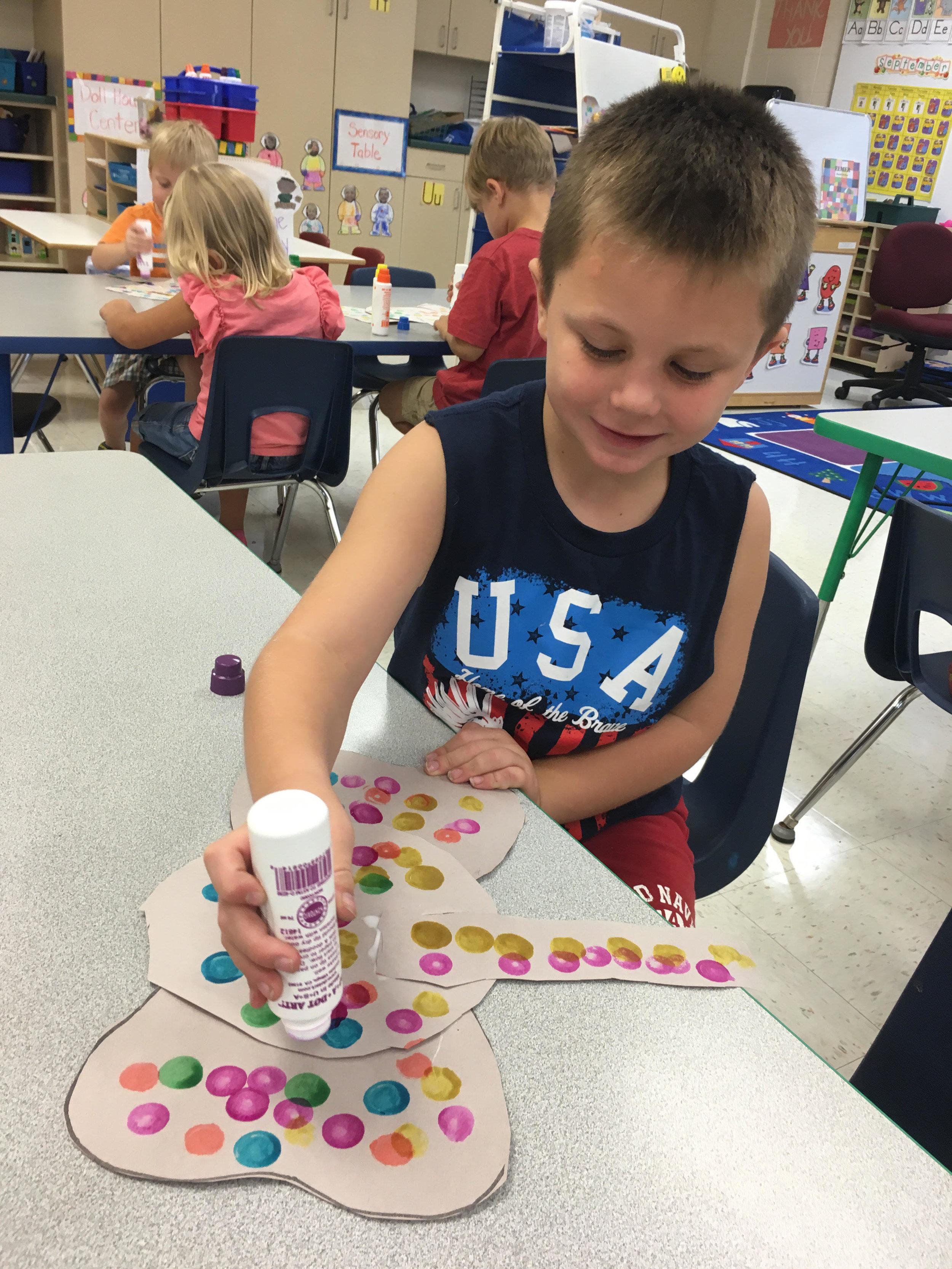 making Elmer colorful