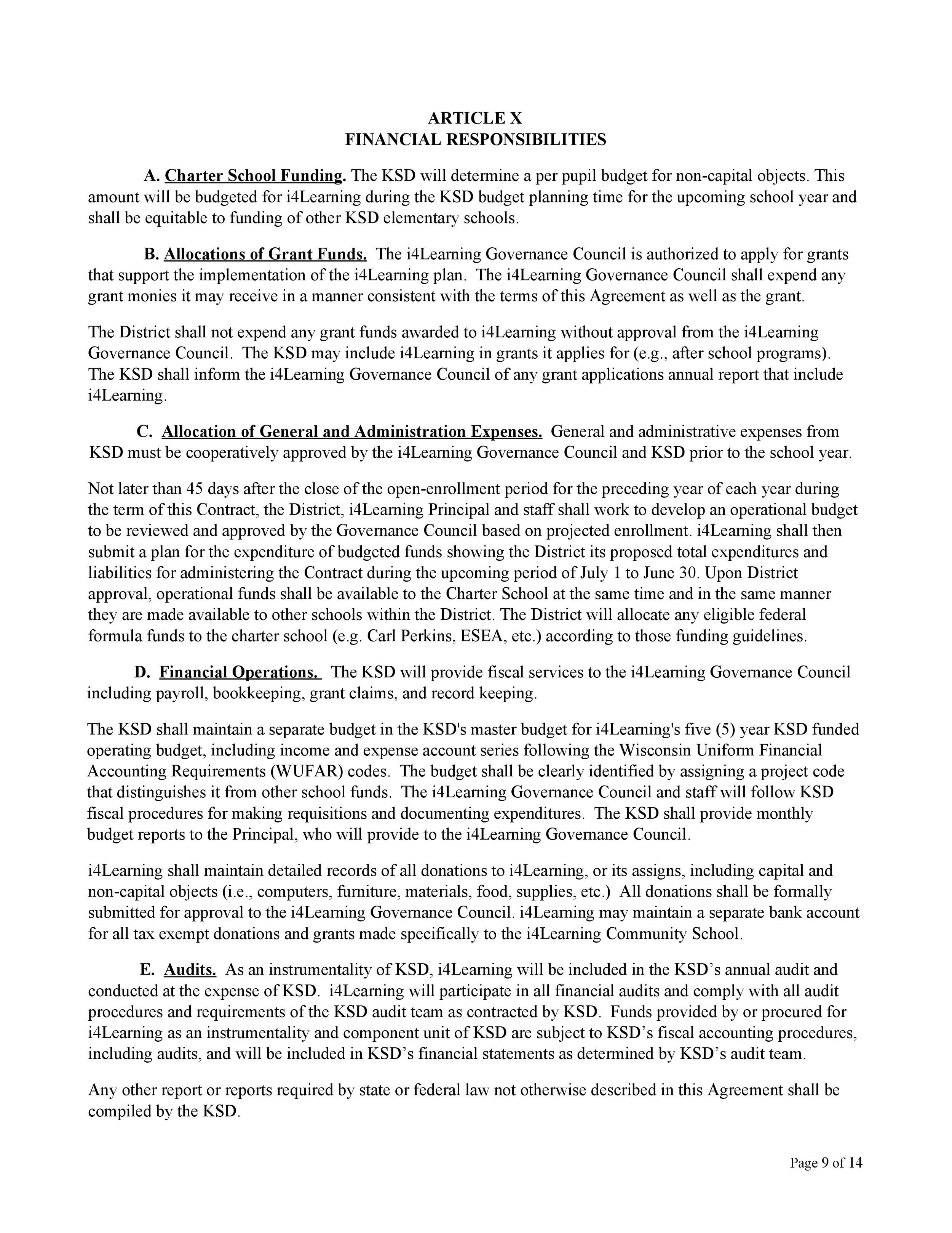 Contract — i4Learning