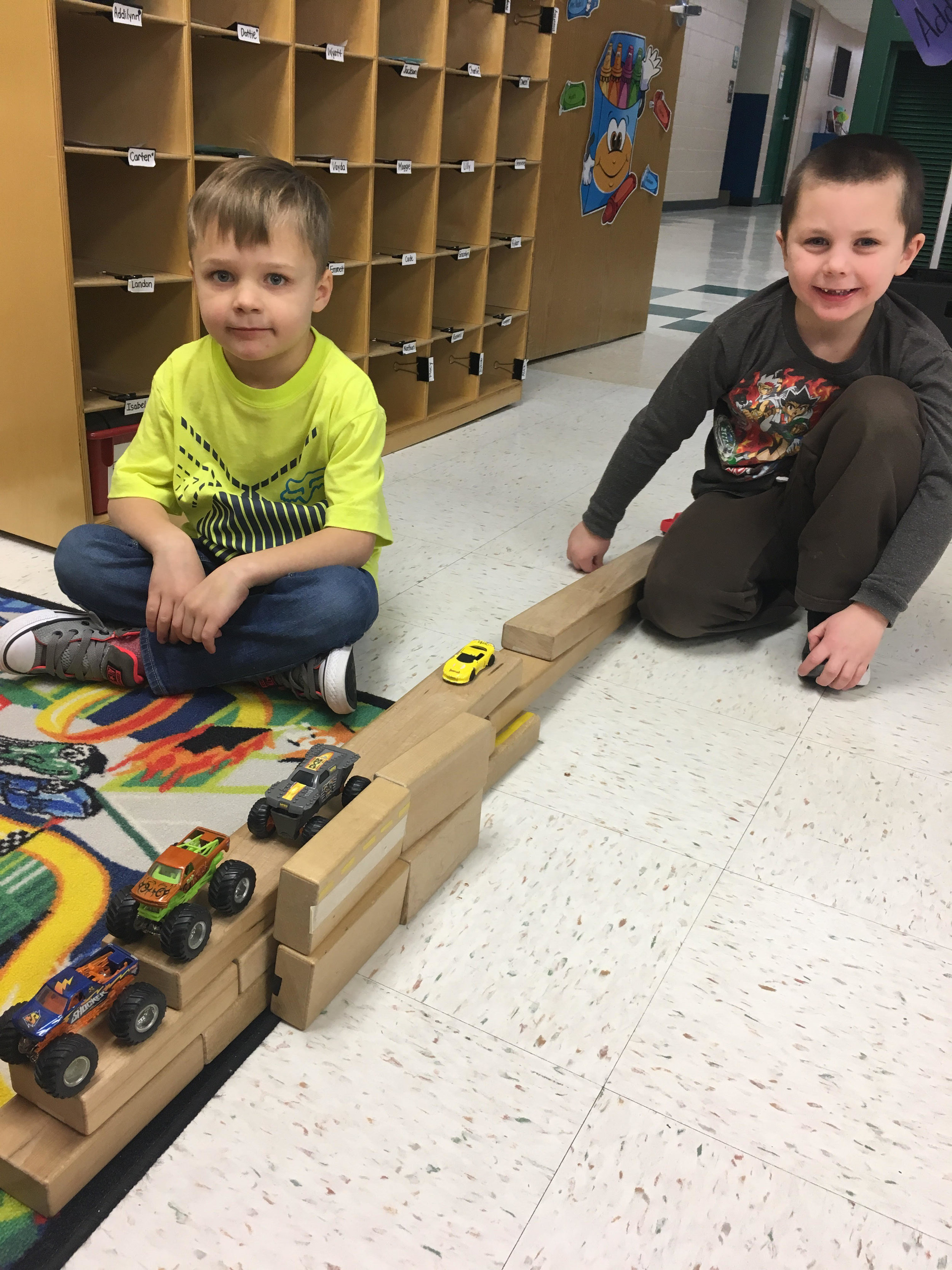They made a boat carrying cars during play time