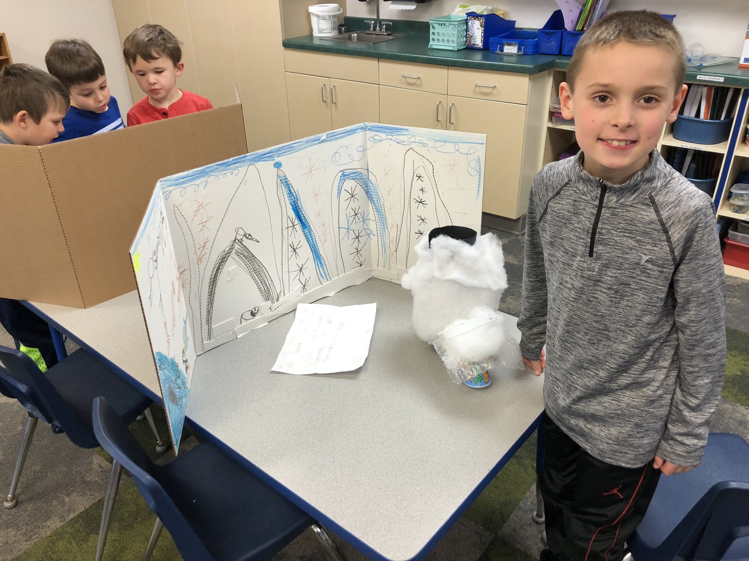 showing his project on the arctic