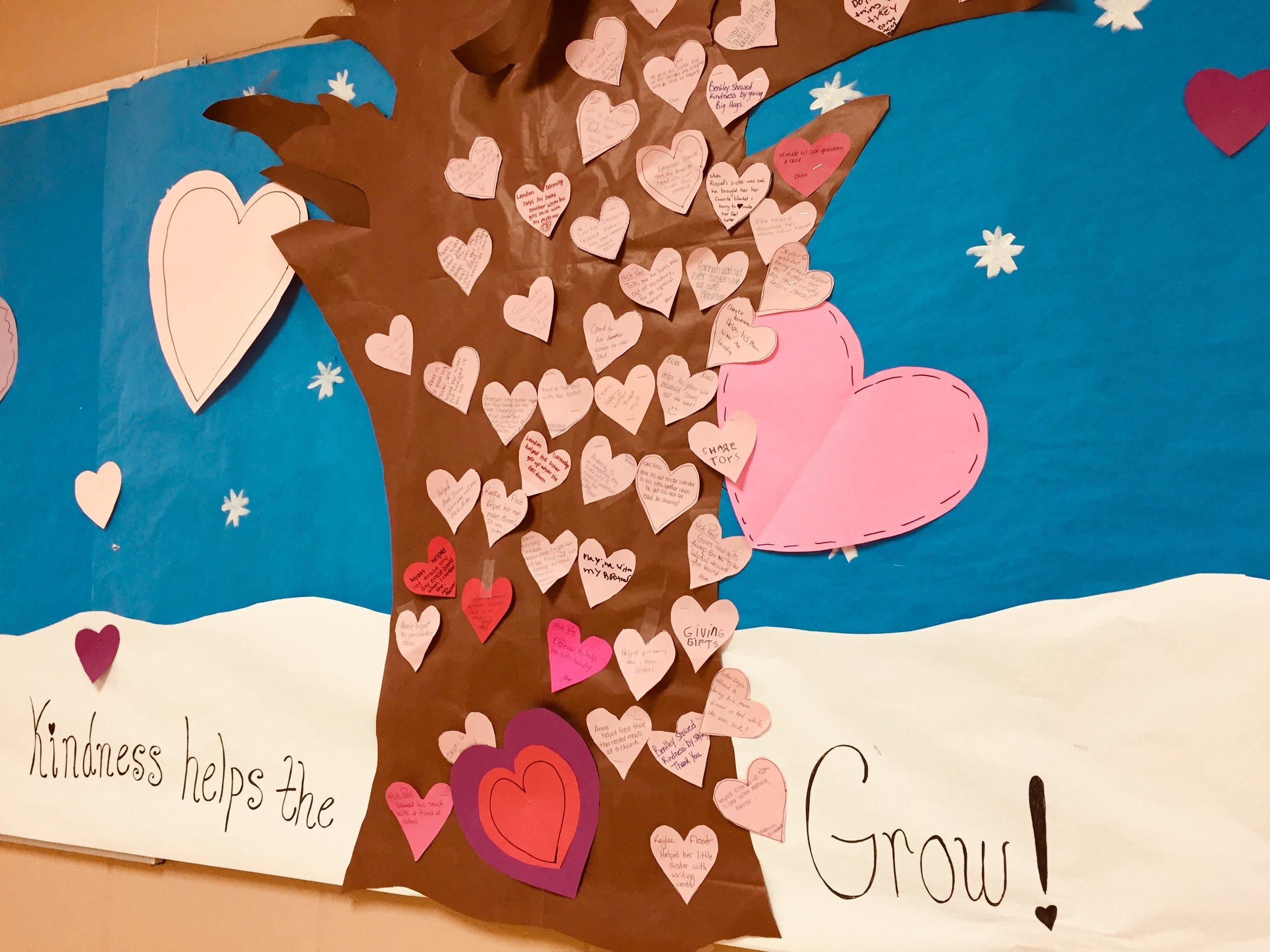 February's PBIS/Core Essentials Kindness Tree!