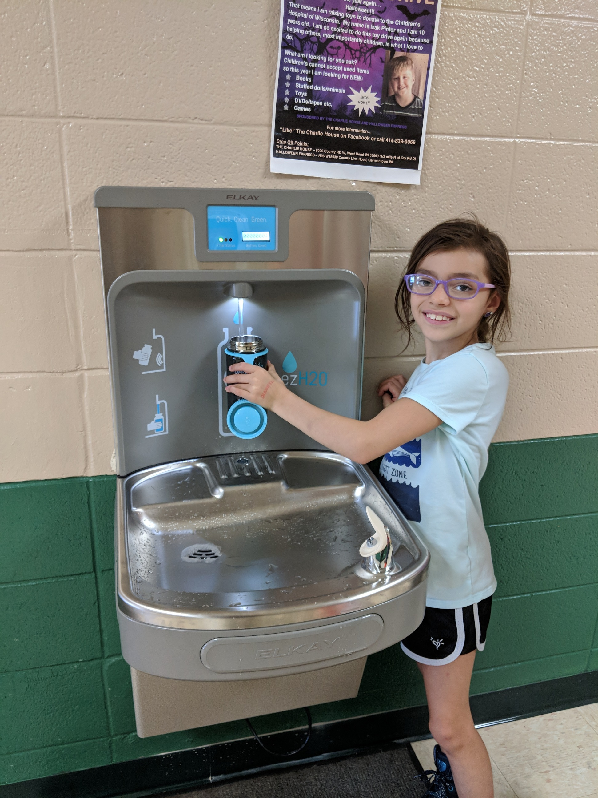 """""""Thank you!"""" to our i4L Families who support our school fundraisers! Thanks to our PTO & Student Governments we were able to purchase our new Bottle Filler!"""