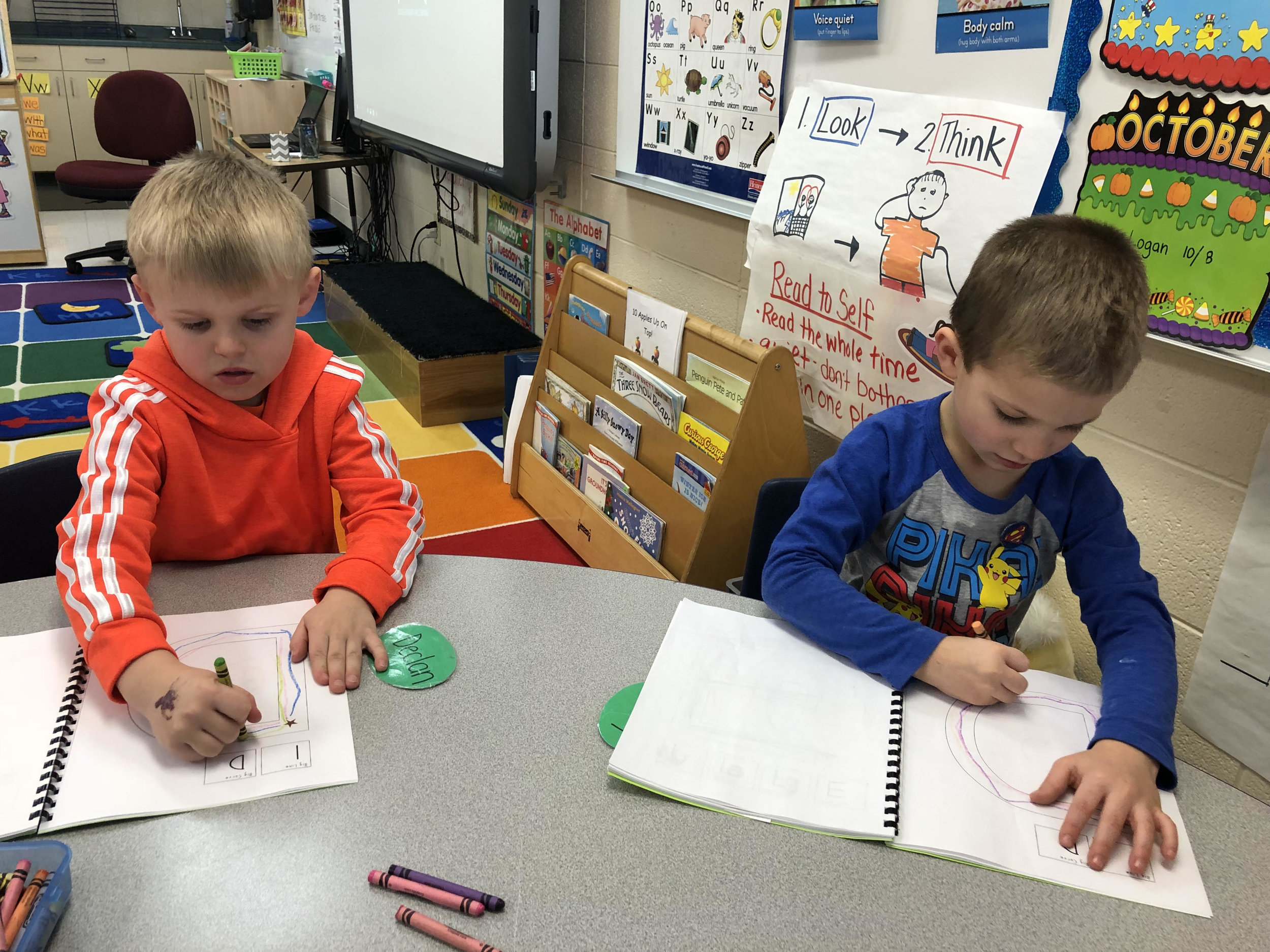 practicing writing the letter Dd