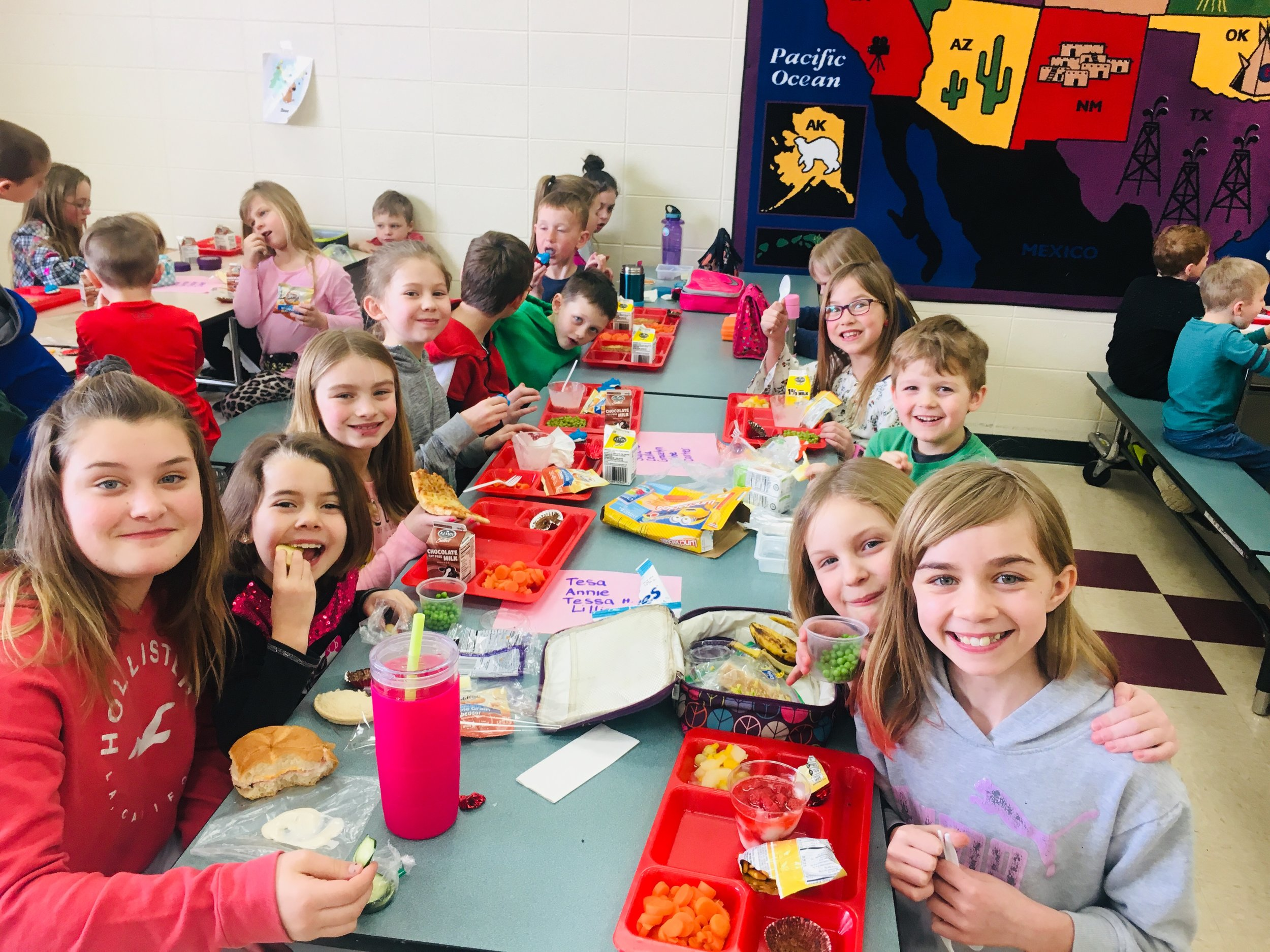 Student's enjoyed a Friendship Friday Mixer Lunch!