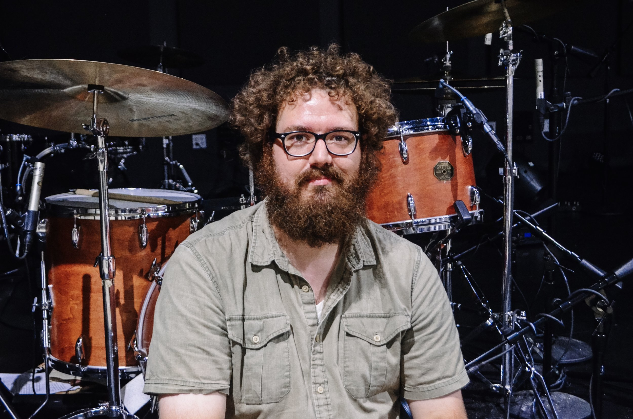 This is Luke Cross. - He plays drums on every song of the album except