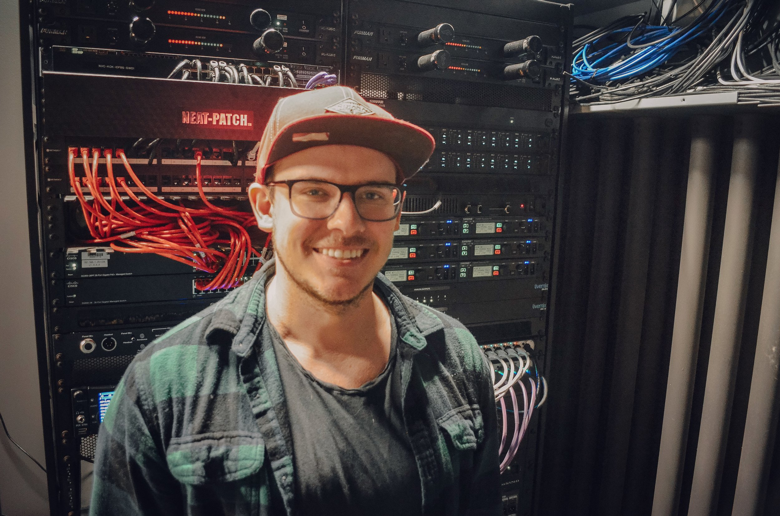 """This is Marshall Bales. - I met Marshall in 2018 through church. We hit it off, and about halfway through 2018, he blew me away with his generosity. He offered to engineer a drum session for Luke Cross and me. I'm very grateful for it. I wasn't even sure if """"real"""" drums were going to be possible on this record, but God made a way through Marshall and Luke's generosity and talent.I thanked Marshall several times as we were leaving the drum session, and he said the best way to repay him was to not give up or cut corners. He said he would always volunteer for the sake of art. How cool is that? That's the kind of musician I want to be - encouraging and helping others create art any way I can.Thank you, Marshall!"""