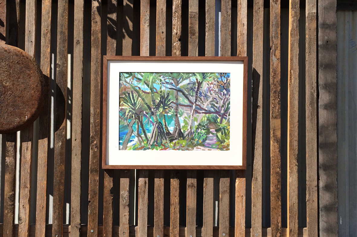 Artist: Elizabeth Gair Palmer | Frames made from recycled hardwood