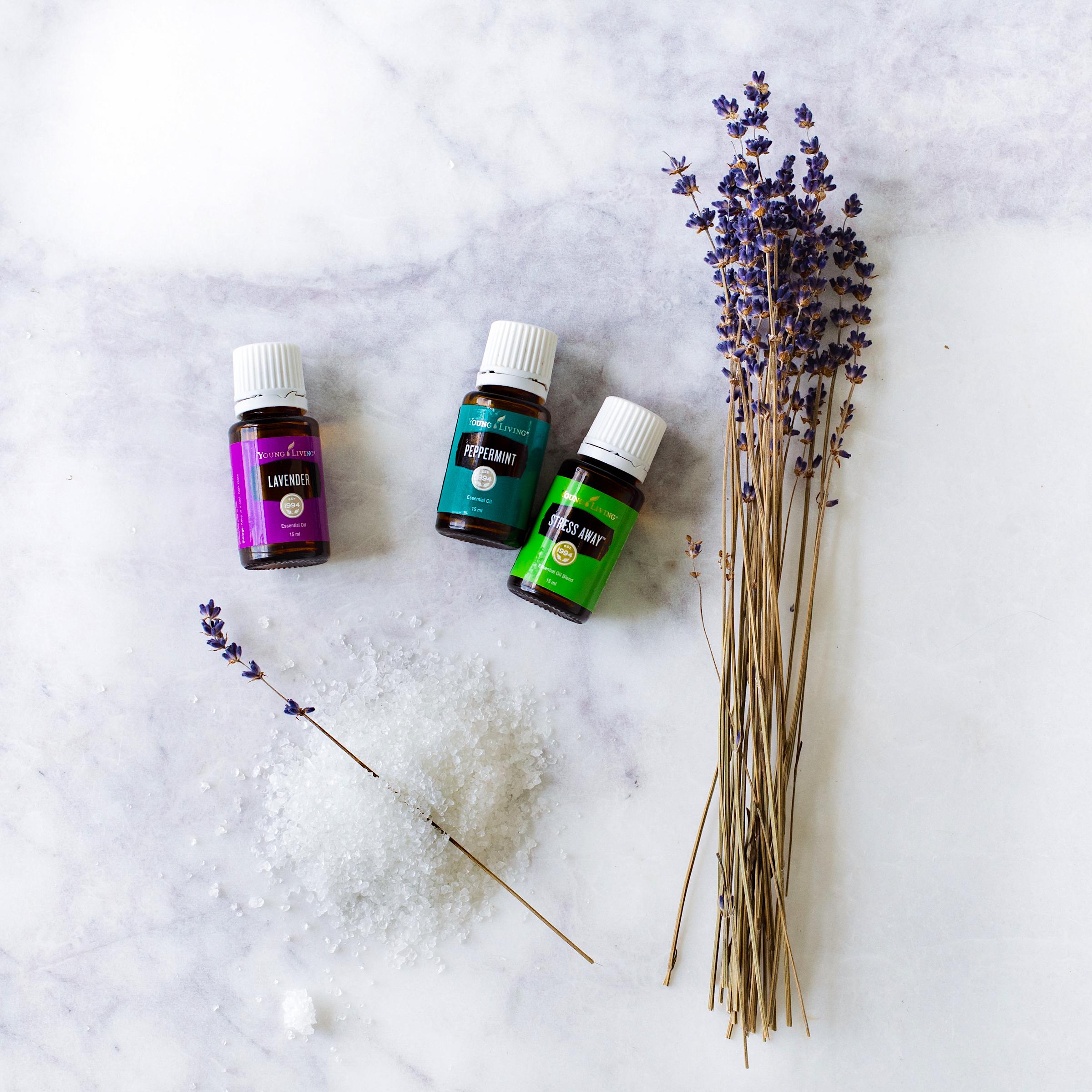 My own bath salts blend using essential oils…