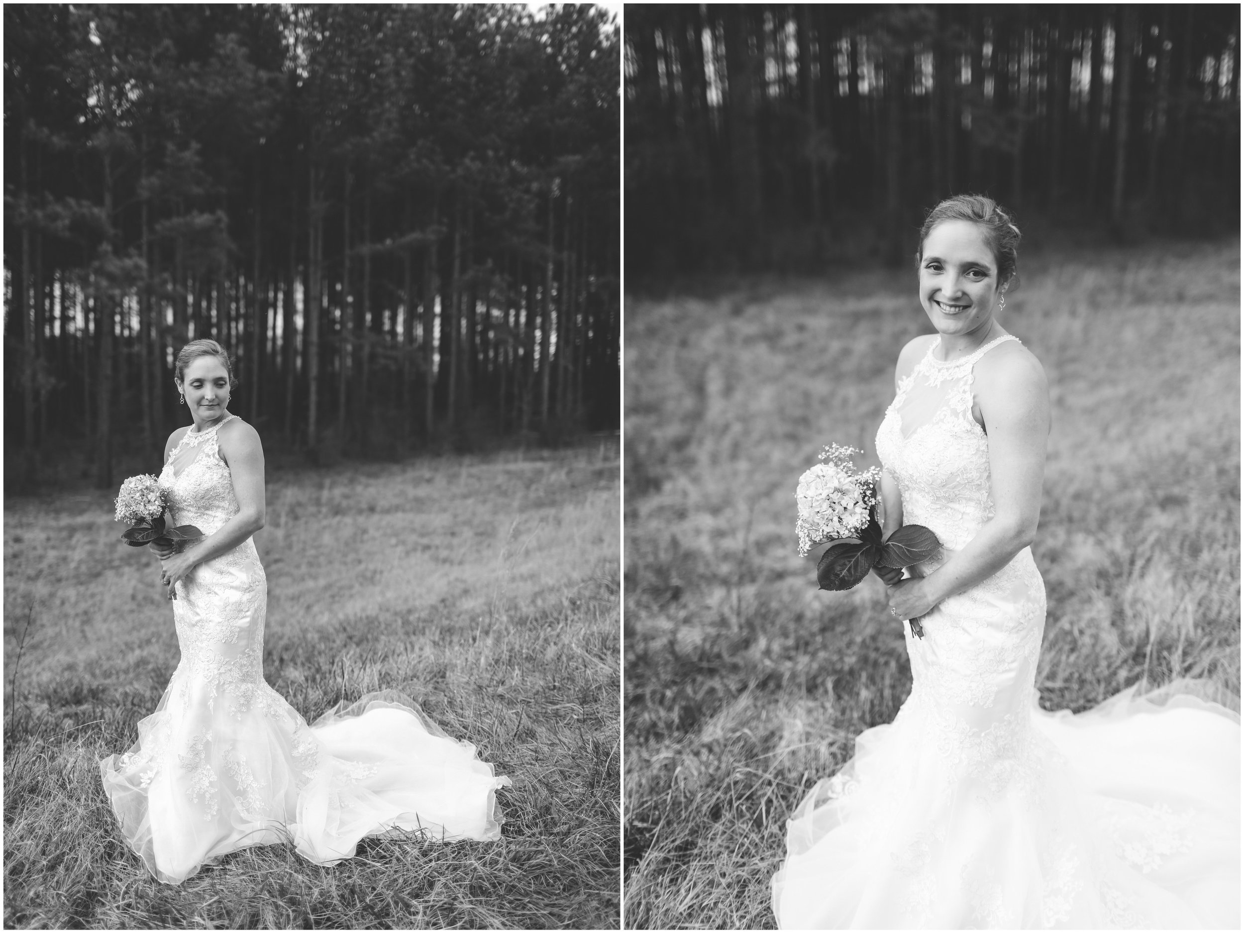Bridal Shoot in a field