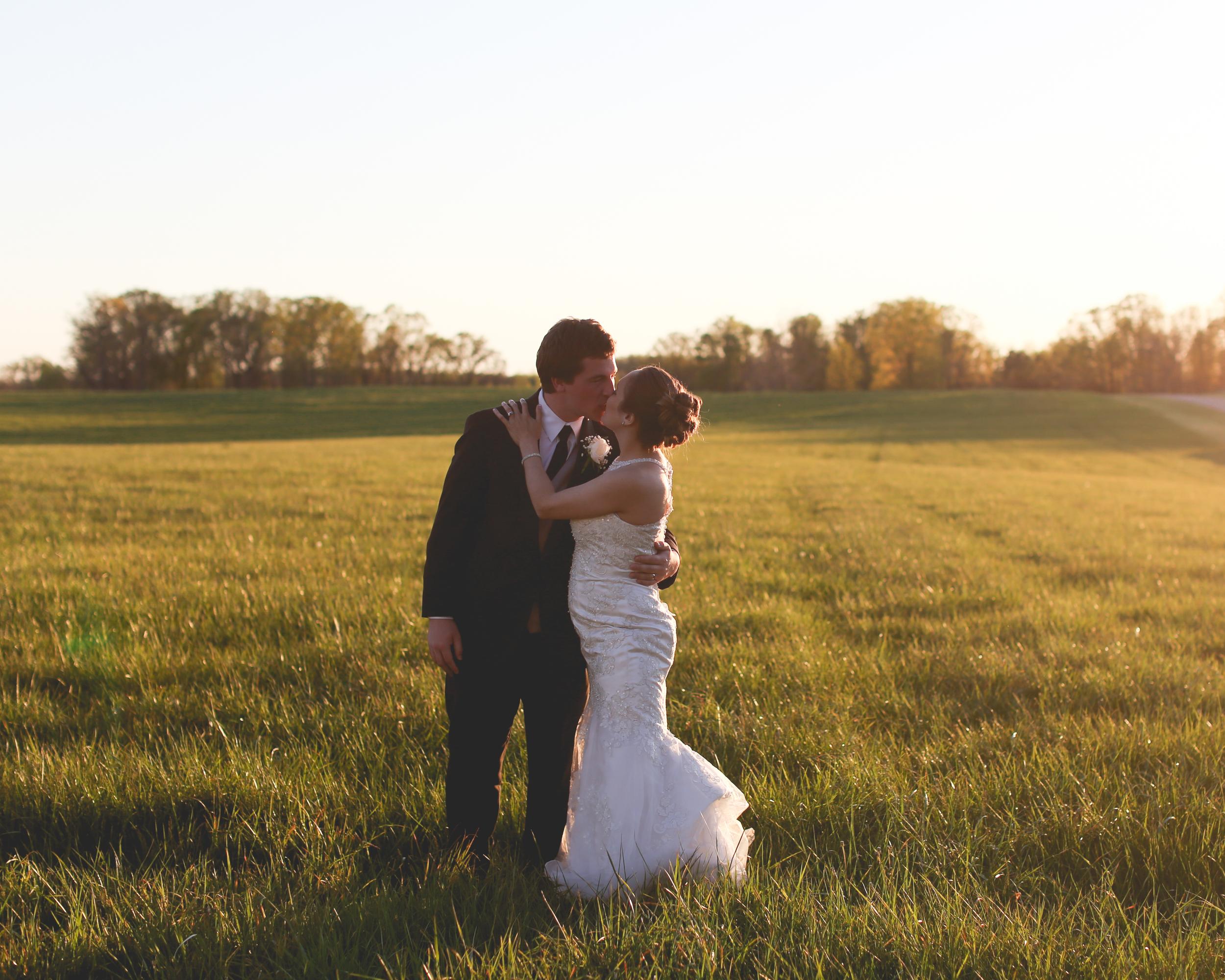 Destination Farm Wedding Virginia Field Golden Light Jon Courville
