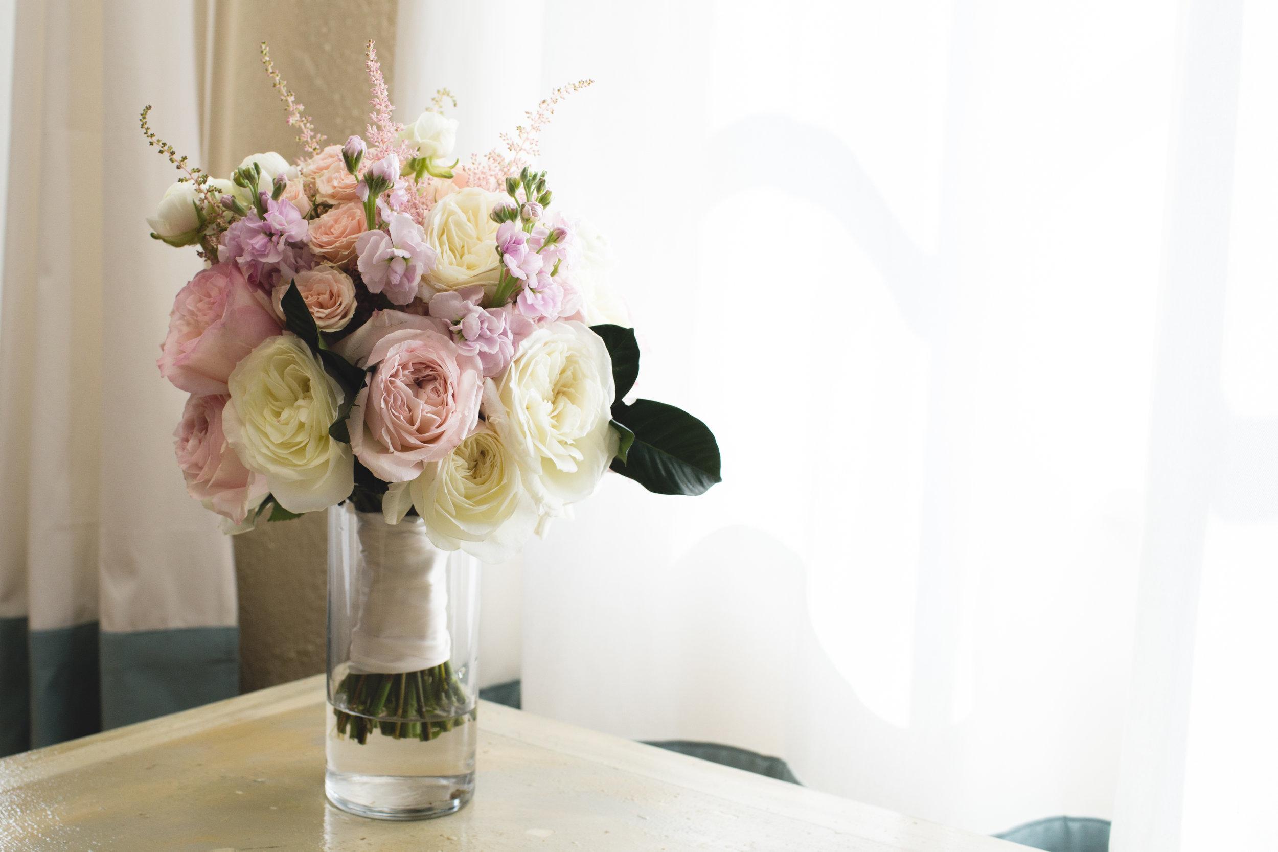 Blush peony bouquet Jon Courville Photography