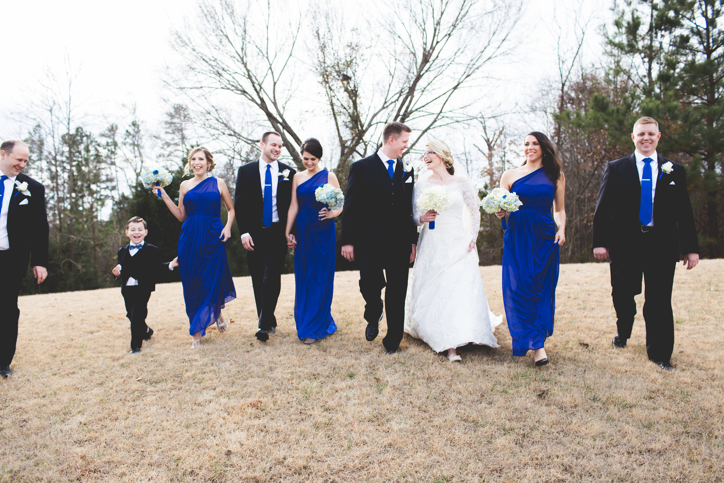 Winter Bridal Party Poses