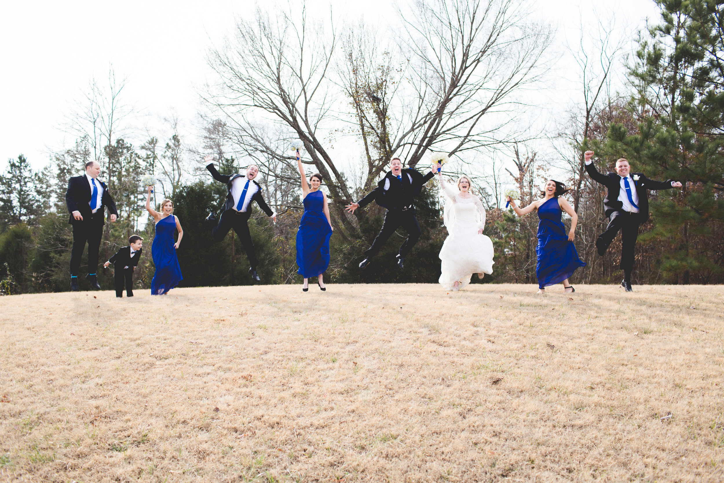 Jumping Bridal Party Photos