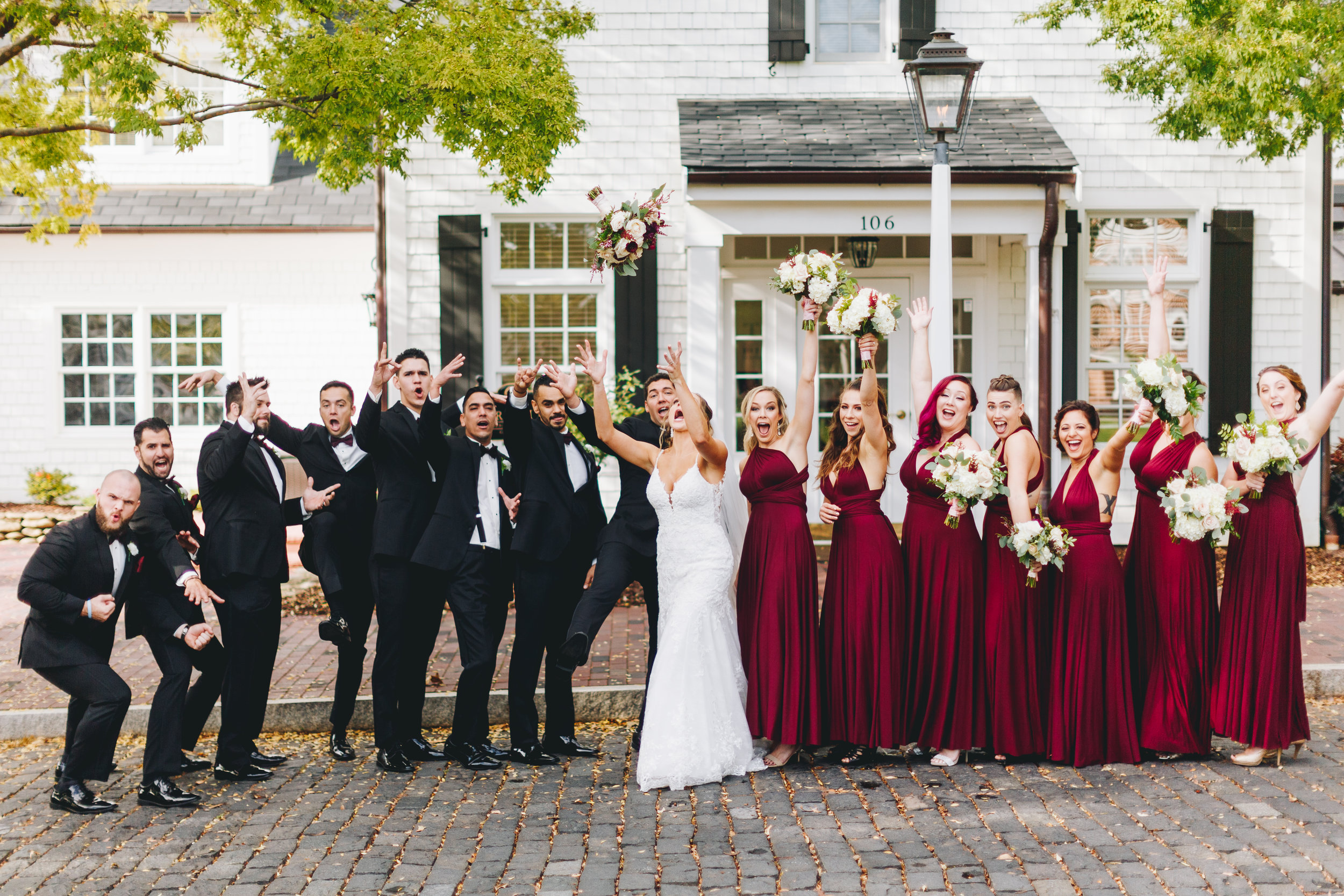 Fun Wedding party portraits