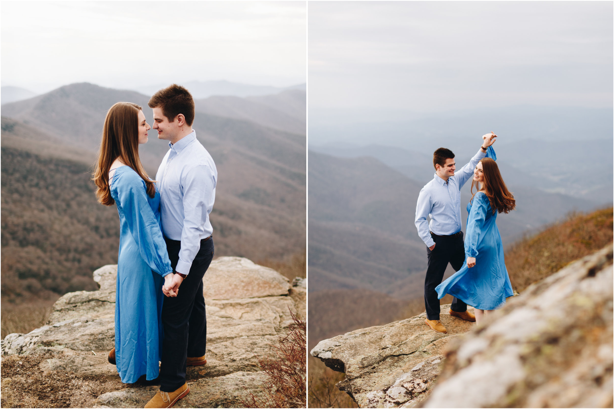 Craggy Pinnacle Engagement Session, Asheville, NC