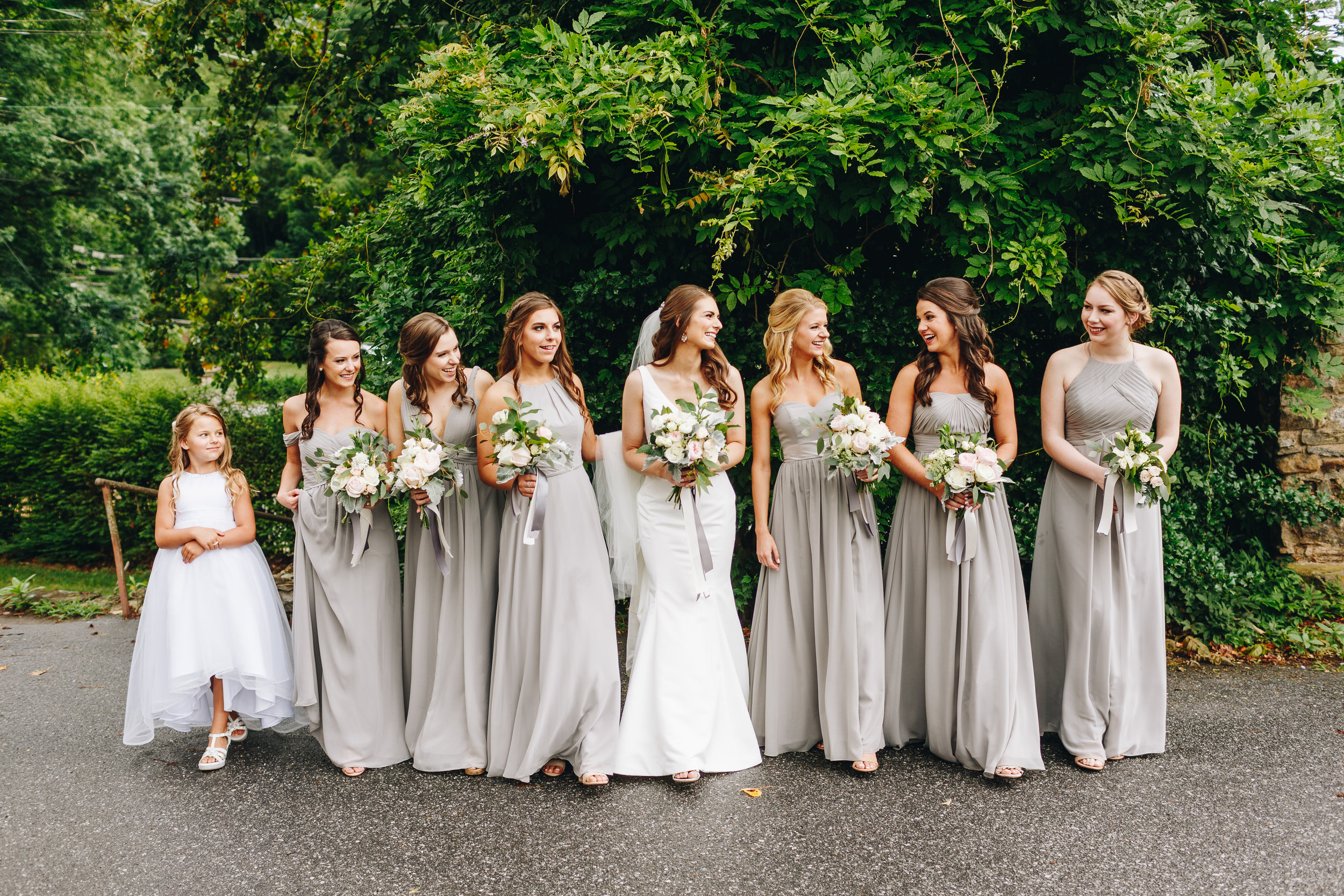 bridesmaids fun and happy portraits