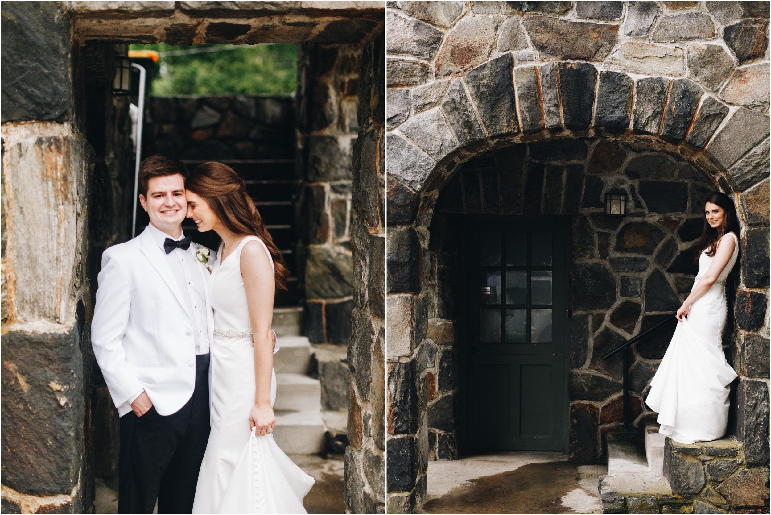 Castle wedding portraits