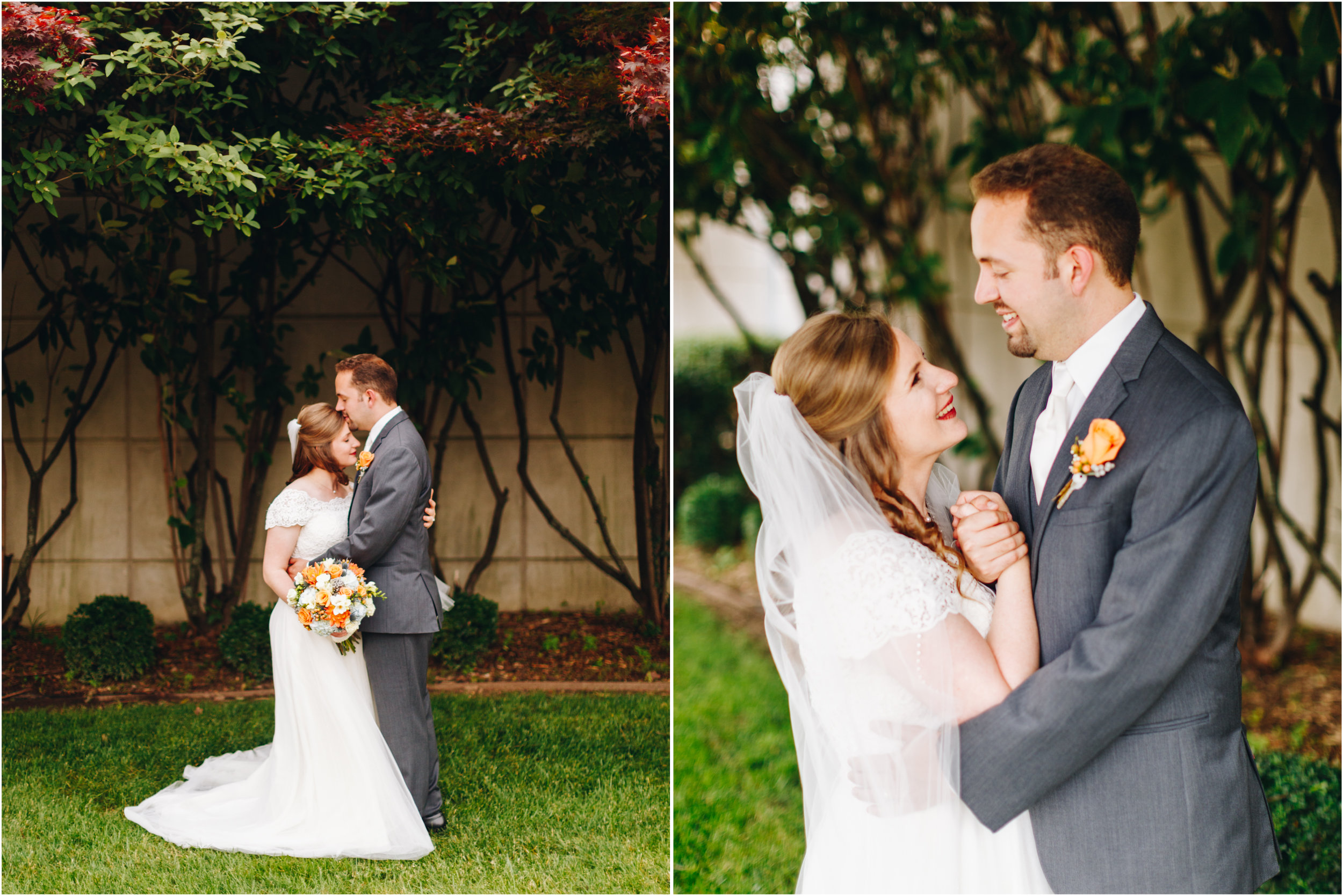 Bride and Groom portraits emotional