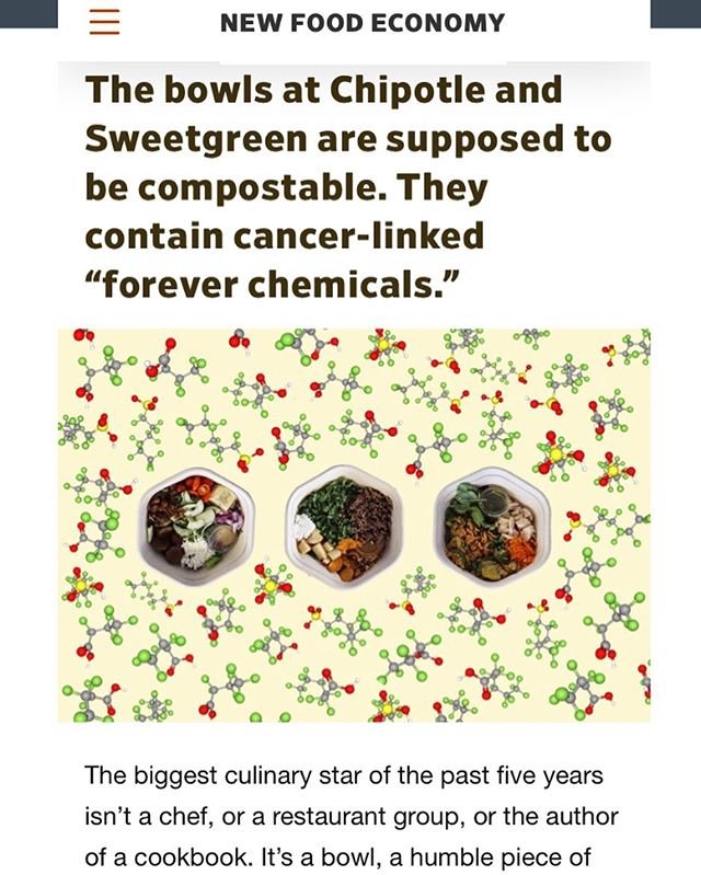 Stop eating at corporate chains #theylietoyou  #eatlocal #supportsmallbusinesses #sopapillasarebowlsyoucaneat https://newfoodeconomy.org/pfas-forever-chemicals-sweetgreen-chipotle-compostable-biodegradable-bowls/
