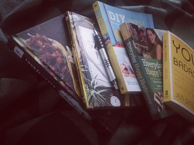 My vegan cookbook selection...thanks Barnes & Noble!
