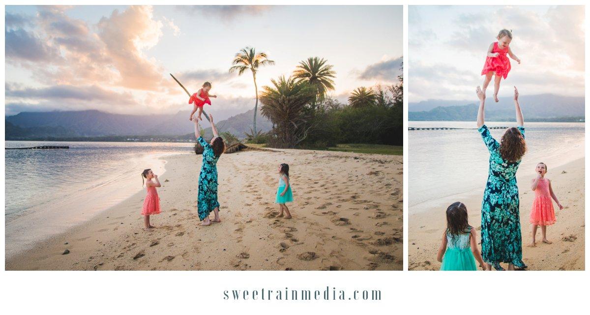 Sweet Rain Studio Kualoa Regional Beach Park Kaaawa Oahu Hawaii Family Photographer