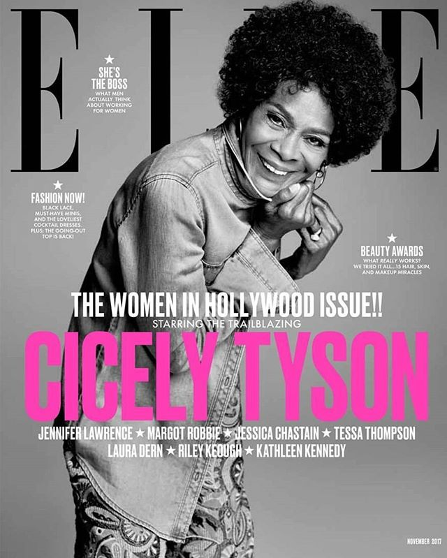 Have y'all seen #CicelyTyson on the cover of @elleusa's 2017 #ELLEWIH issue??!! If this is what #melanin looks like at 92, count me in!! Yes ma'am!!🔥🔥😍😍❤❤ #melaninpoppin