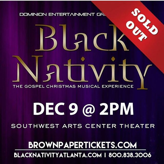 And so it begins!!!! Shows are selling out and we are just in October!! Listen up folks, get your tickets NOW!! I promise you this is an experience you do not want to miss. Go here ---  bit.ly/BNtix17 or www.brownpapertickets.com . . . . #thearts #southwestartscenter #BlackNativityATL #blacknativityatlanta
