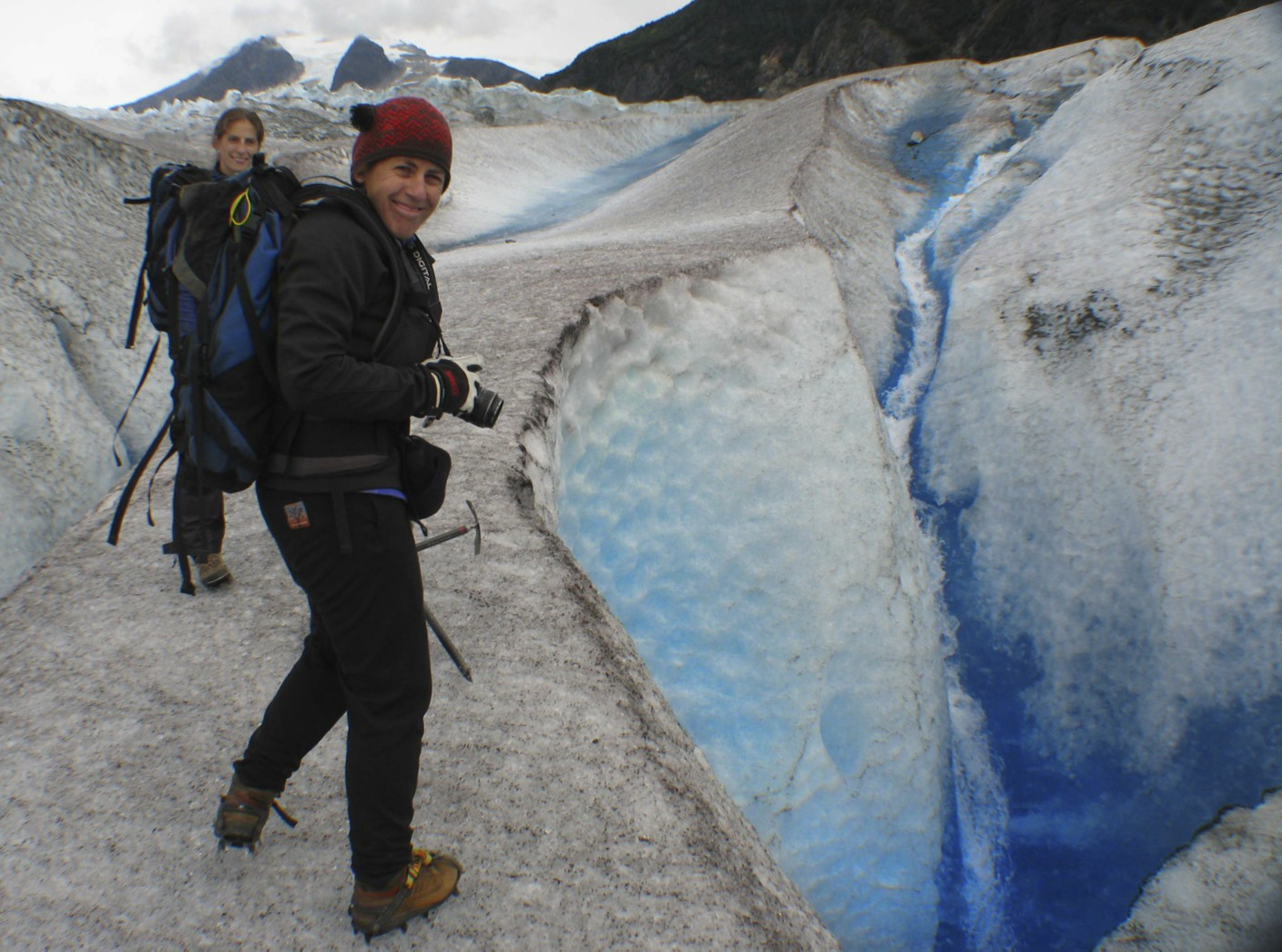 Lori on the Mendenhall Glacier, Alaska