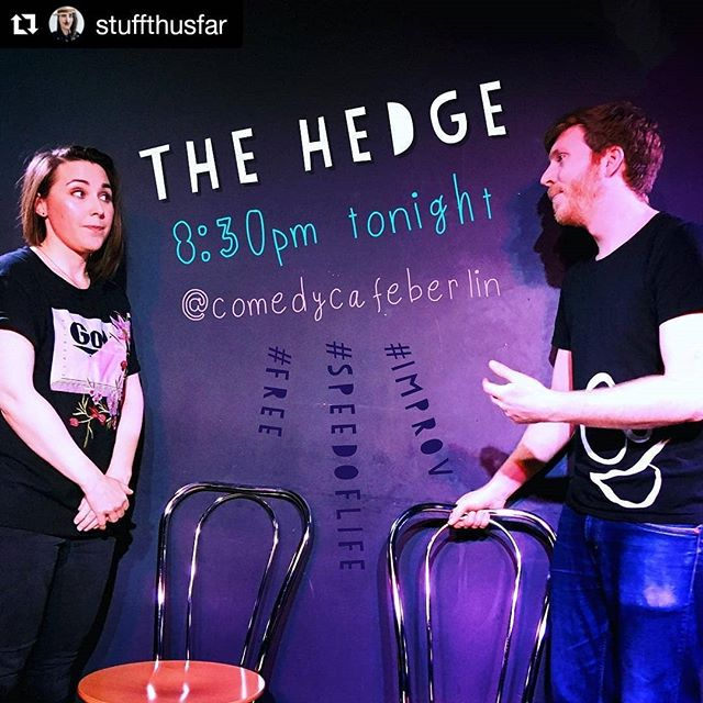 Me and THE AMY. Tonight at @comedycb  #improv #speedoflife #comedy #free