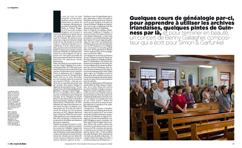 Magazine Apprendre La Photo gallagher clan - le monde magazine — kenneth o'halloran