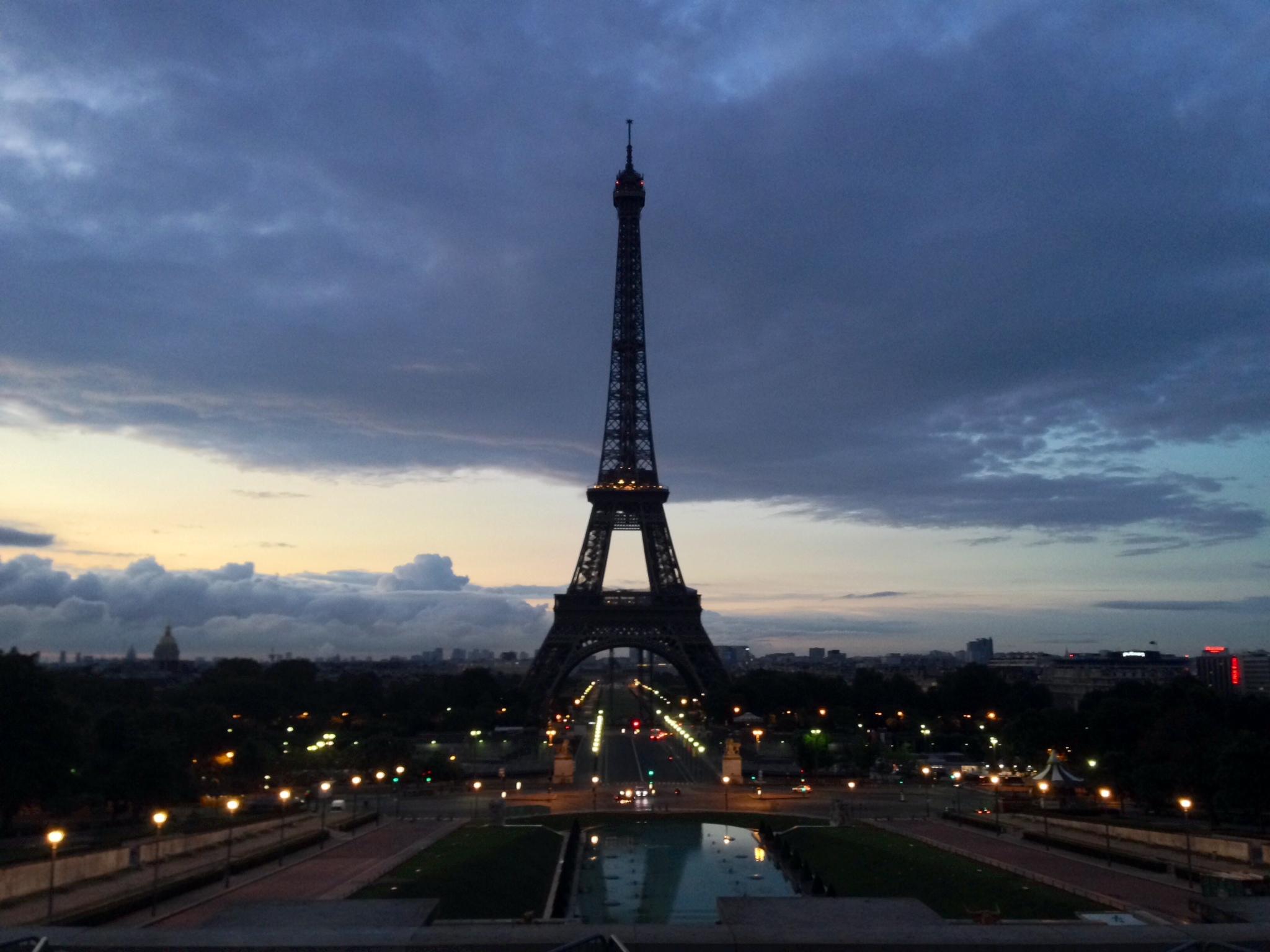 Eiffeltoren, dinsdagochtend om 7:10 (vanaf Trocadéro)