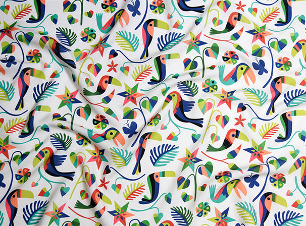 Otomi Toucan pattern to be featured on BucketFeet shoes.