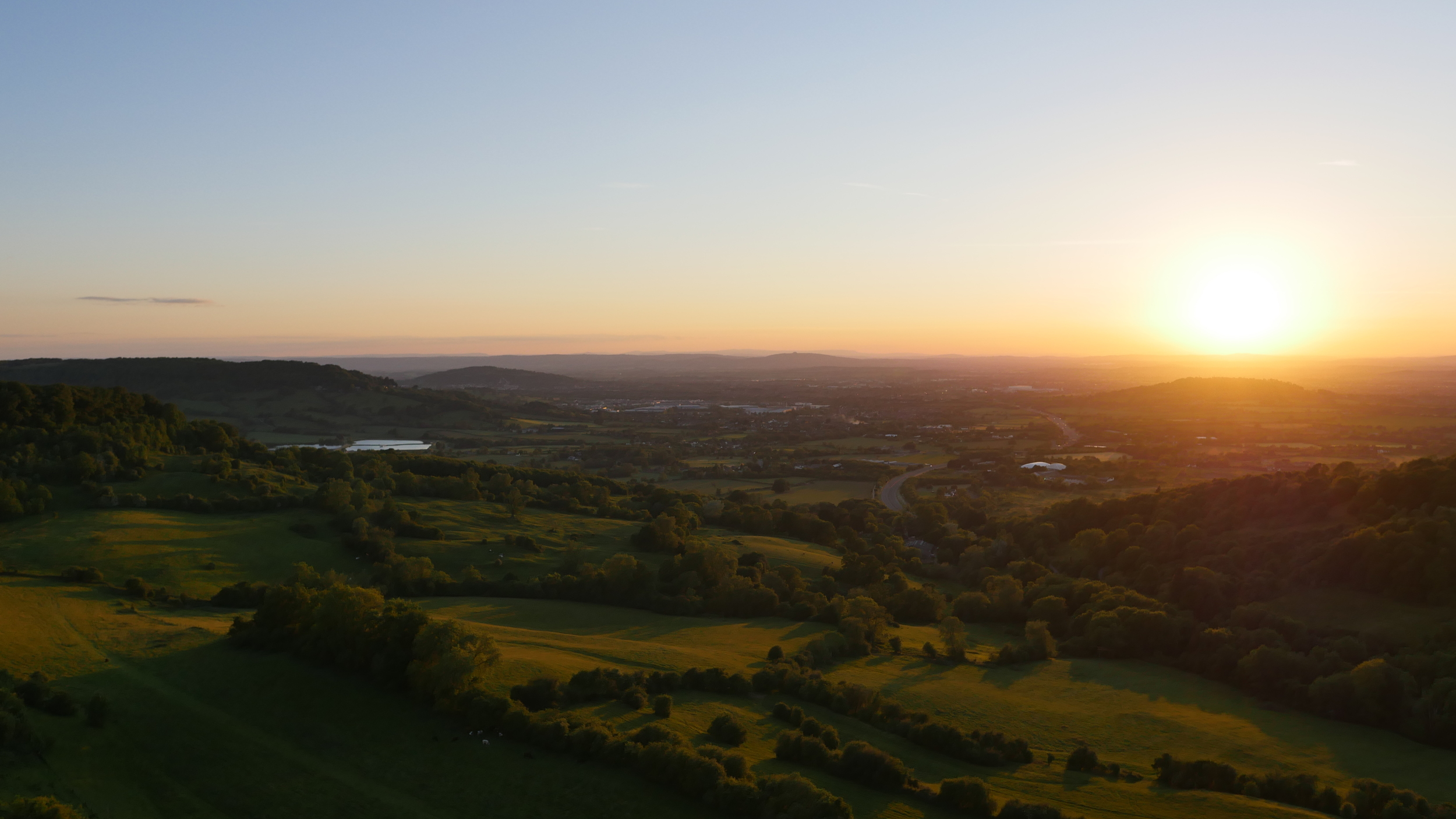 Sunset over Cheltenham