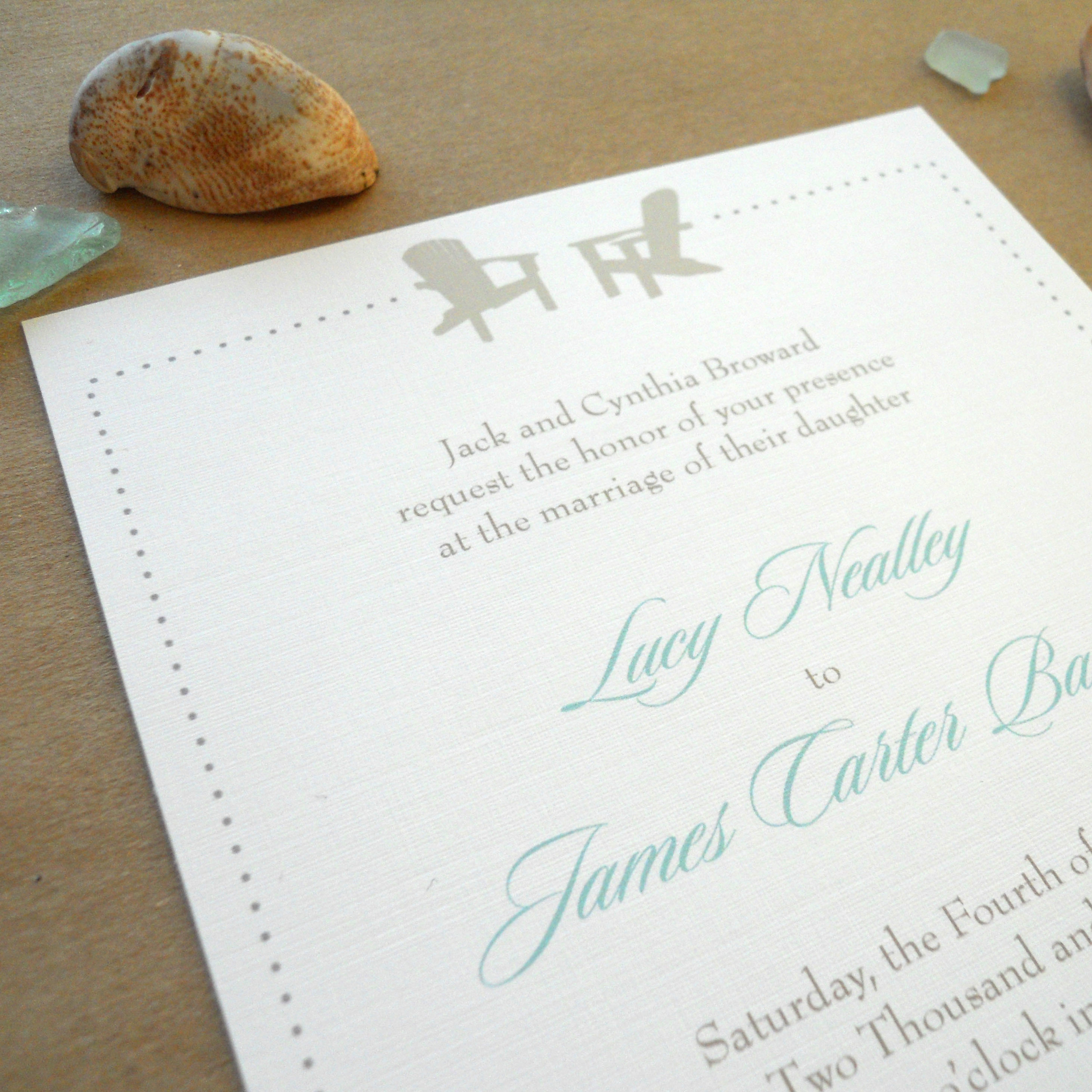 Lucy Invitation Detail