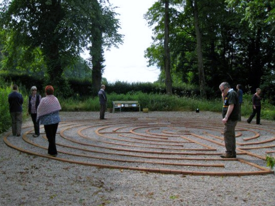 Walking the labyrinth at St Beuno's Spirituality Centre
