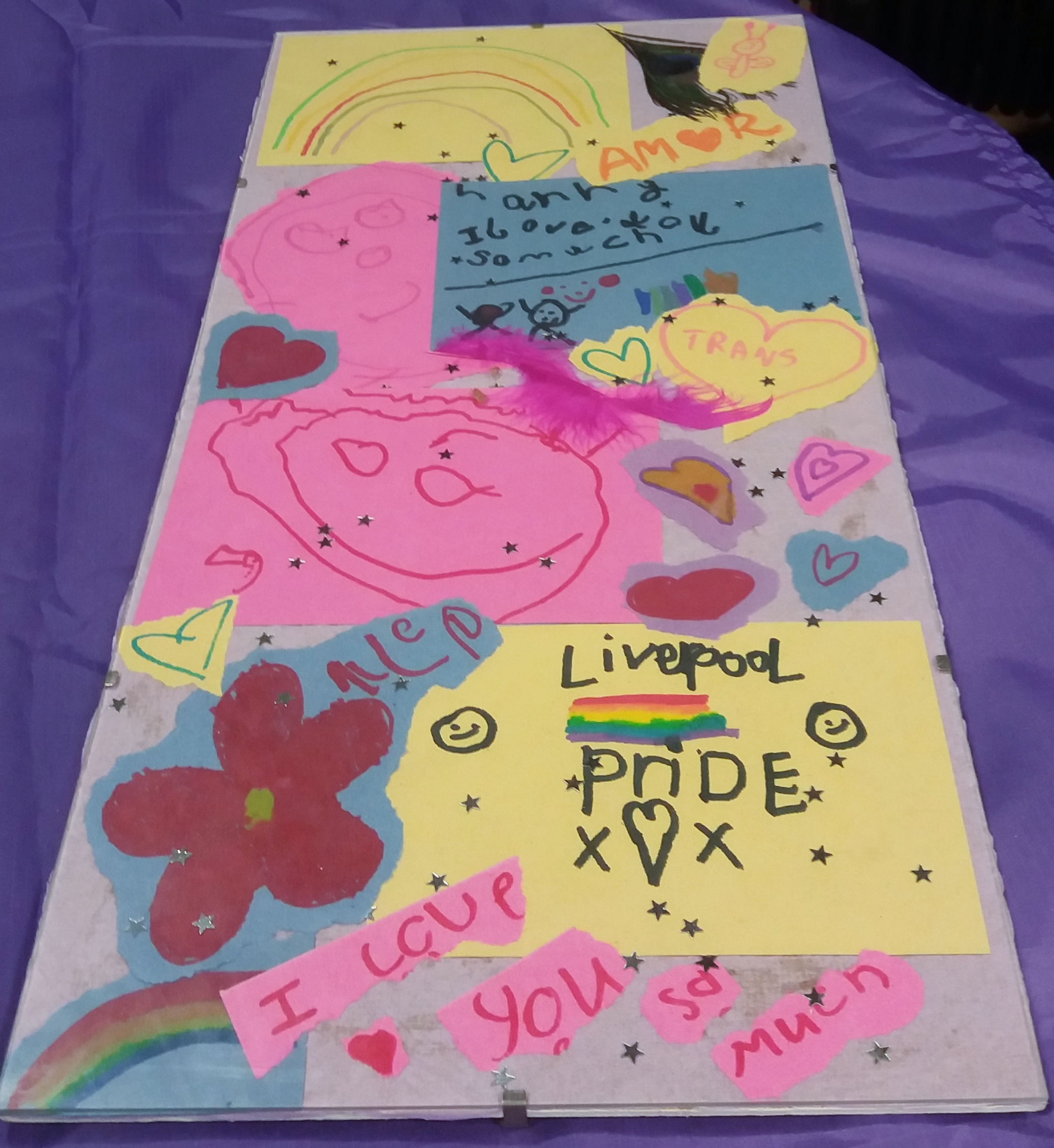 2. Messages and drawings left by children and young people – a sign of hope for the future