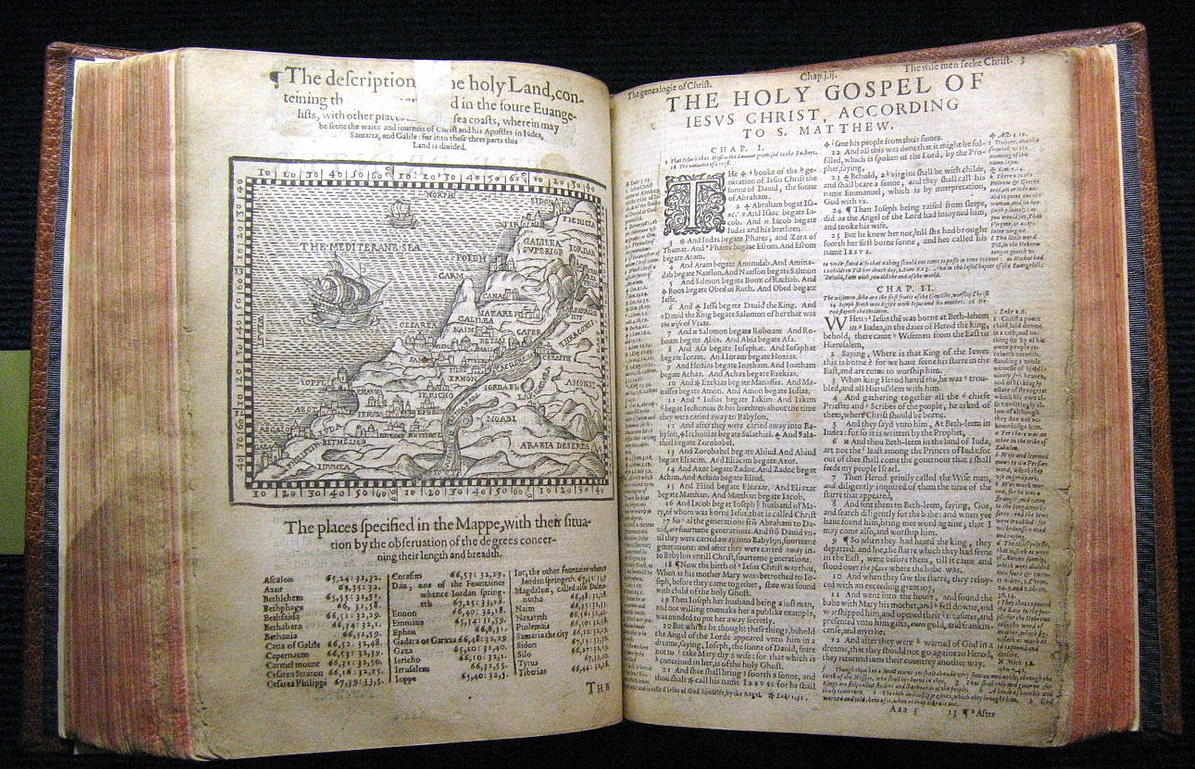 Geneva Bible, first printed 1560