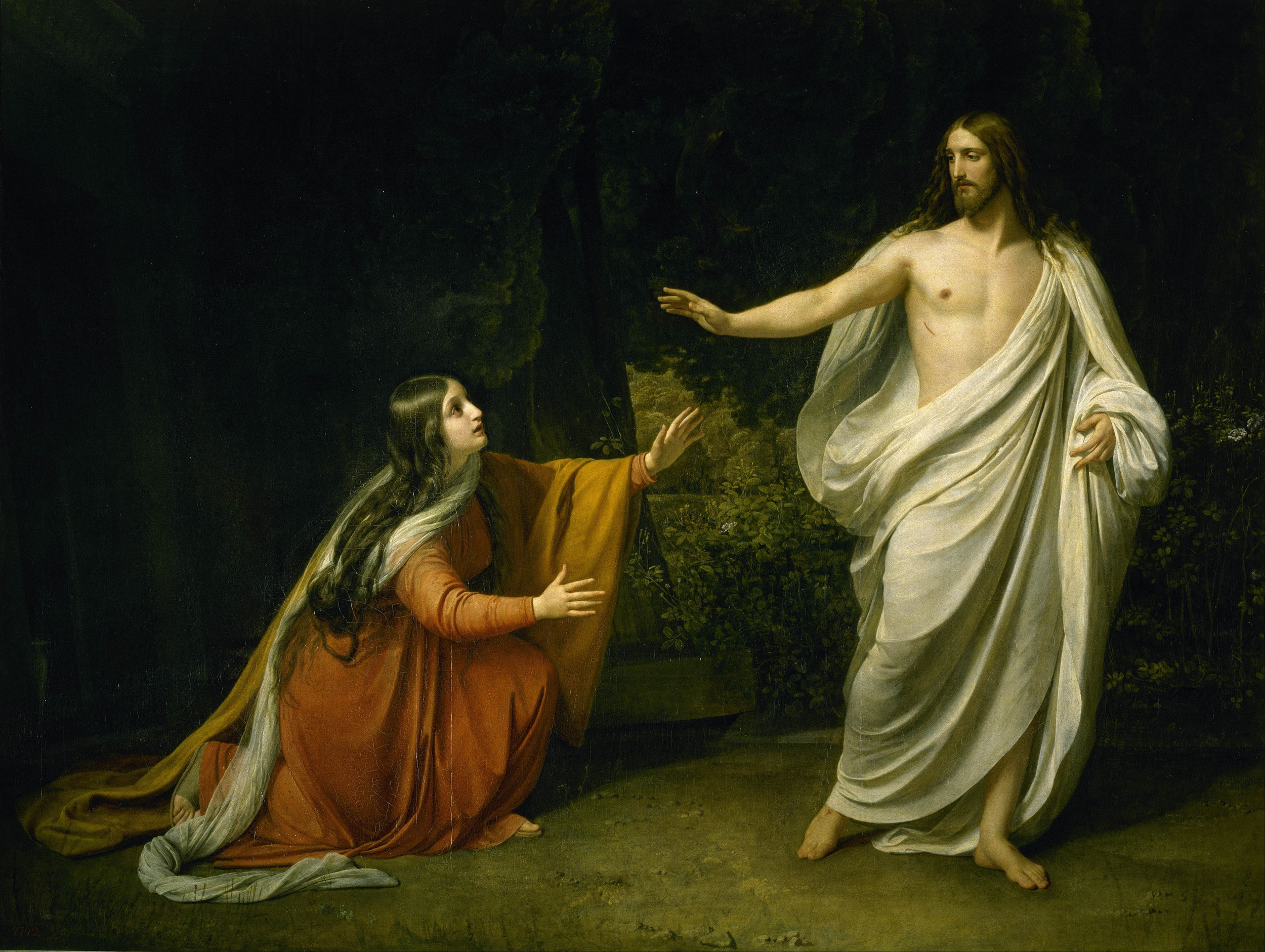 Christ's appearance to Mary Magdalene after the Resurrection by Alexander Ivanov,1835