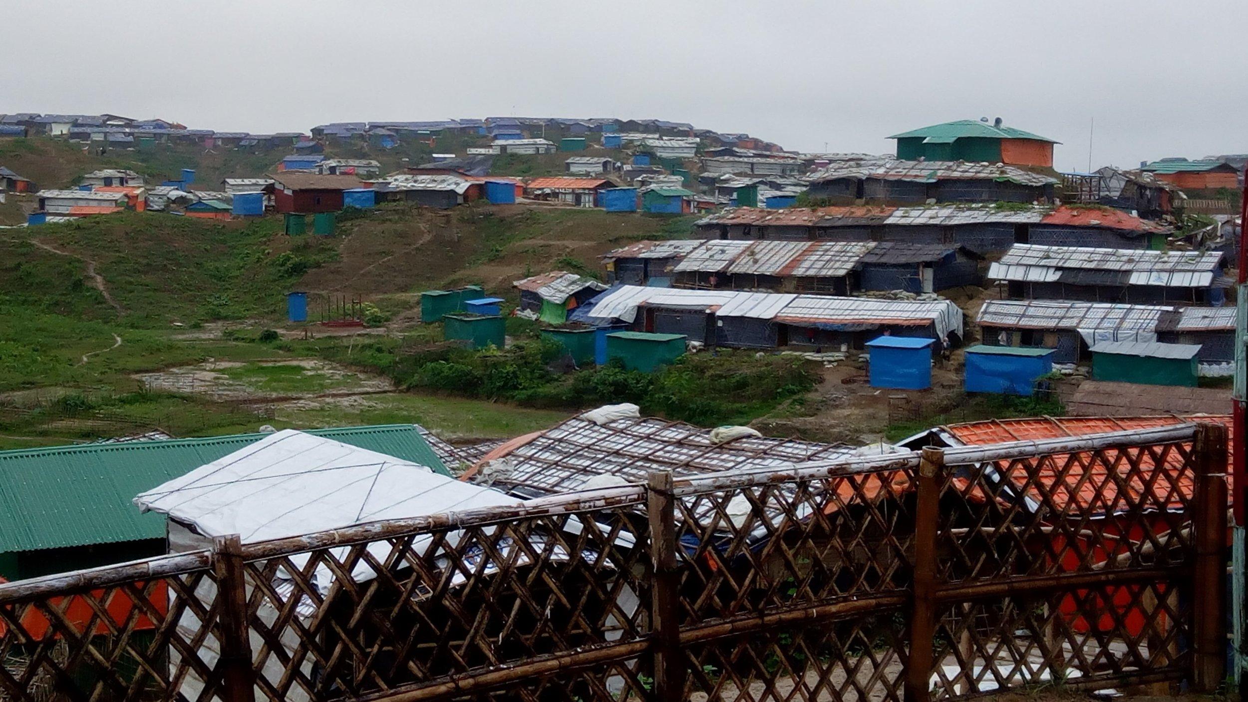 Jamtoli refugee camp in Cox's Bazar, Bangladesh