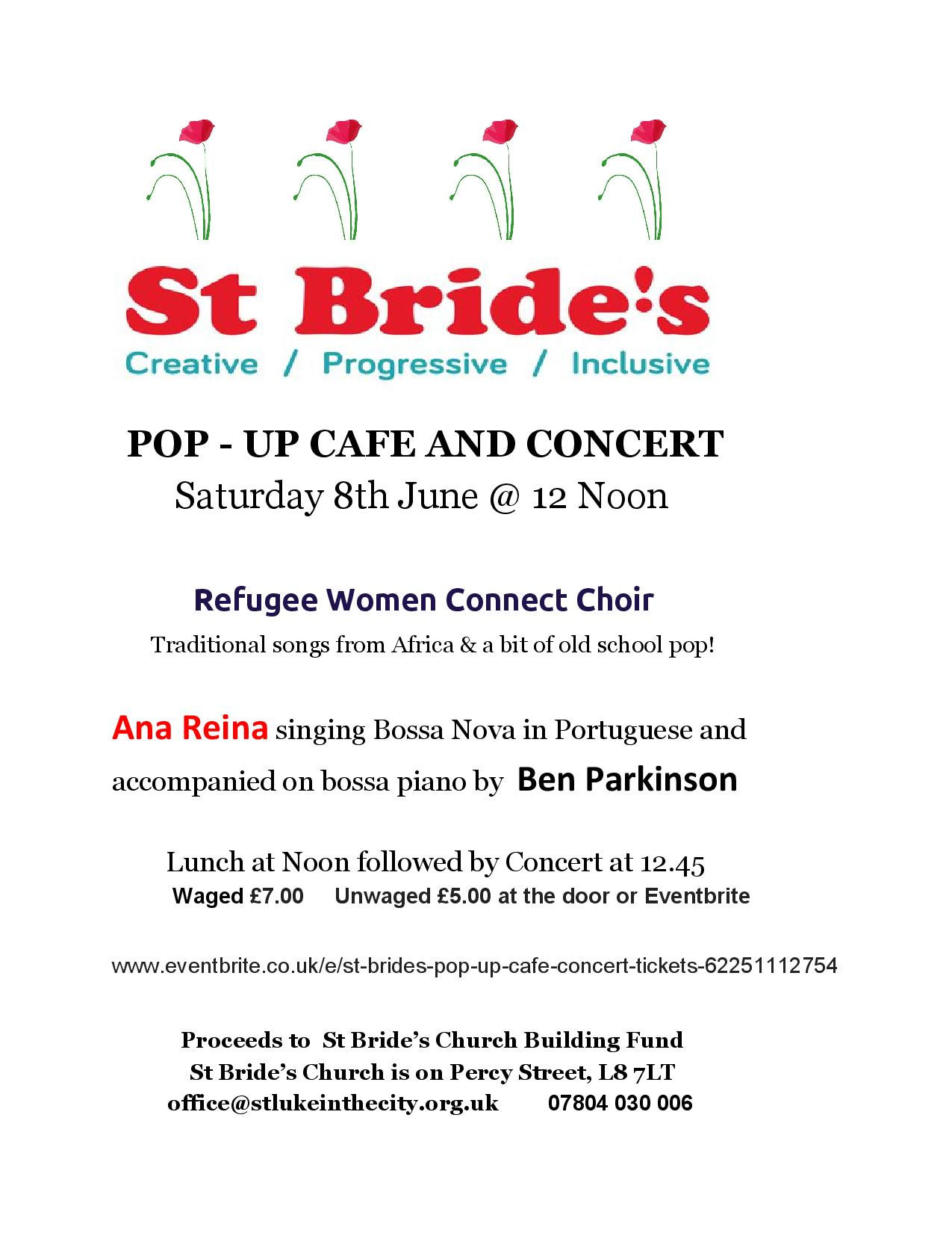 St Bride's Pop Up Cafe and Concert — St Bride's Liverpool