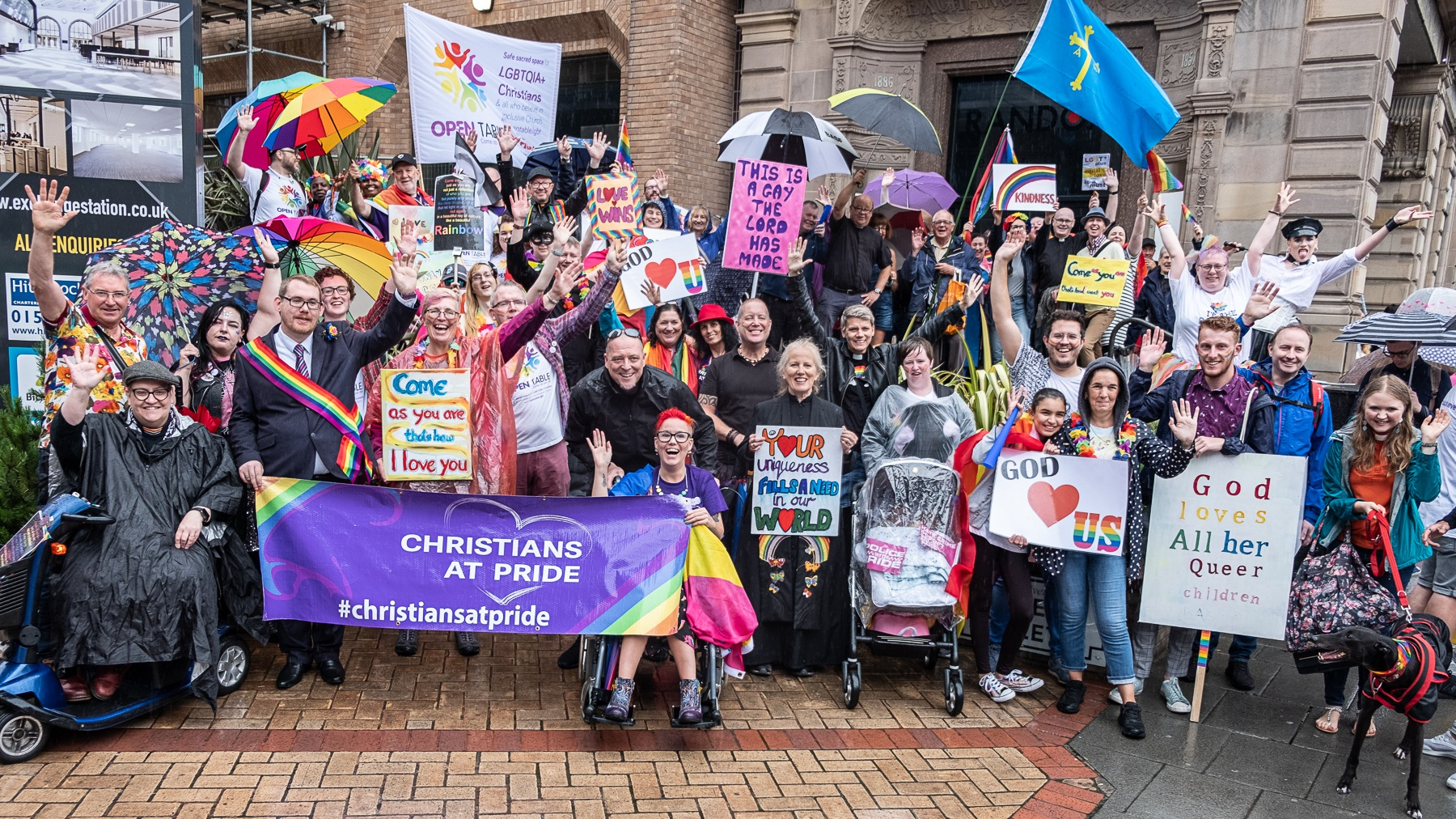 Christians At Pride In Liverpool July 2019. PHOTO: Mark Loudon