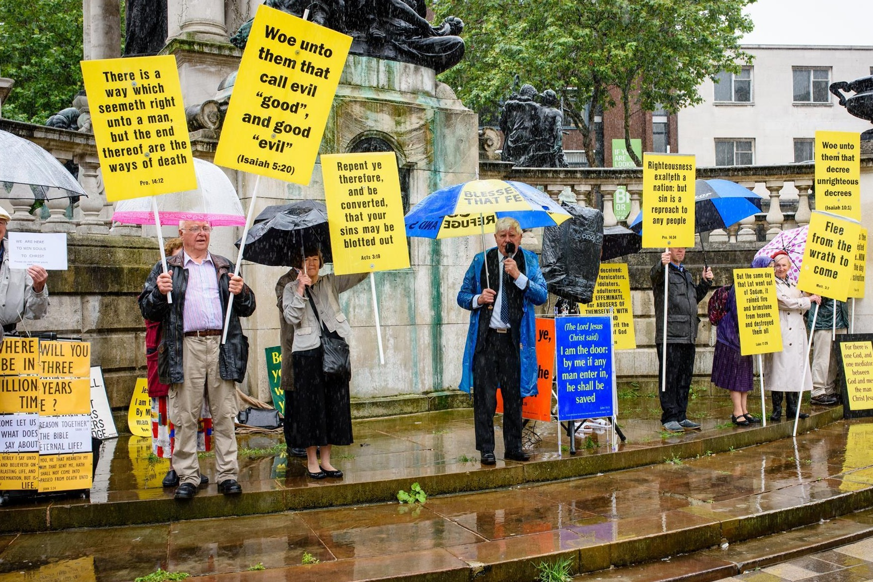 Christian Voice protesters at Pride. PHOTO Jonathan Jelfs