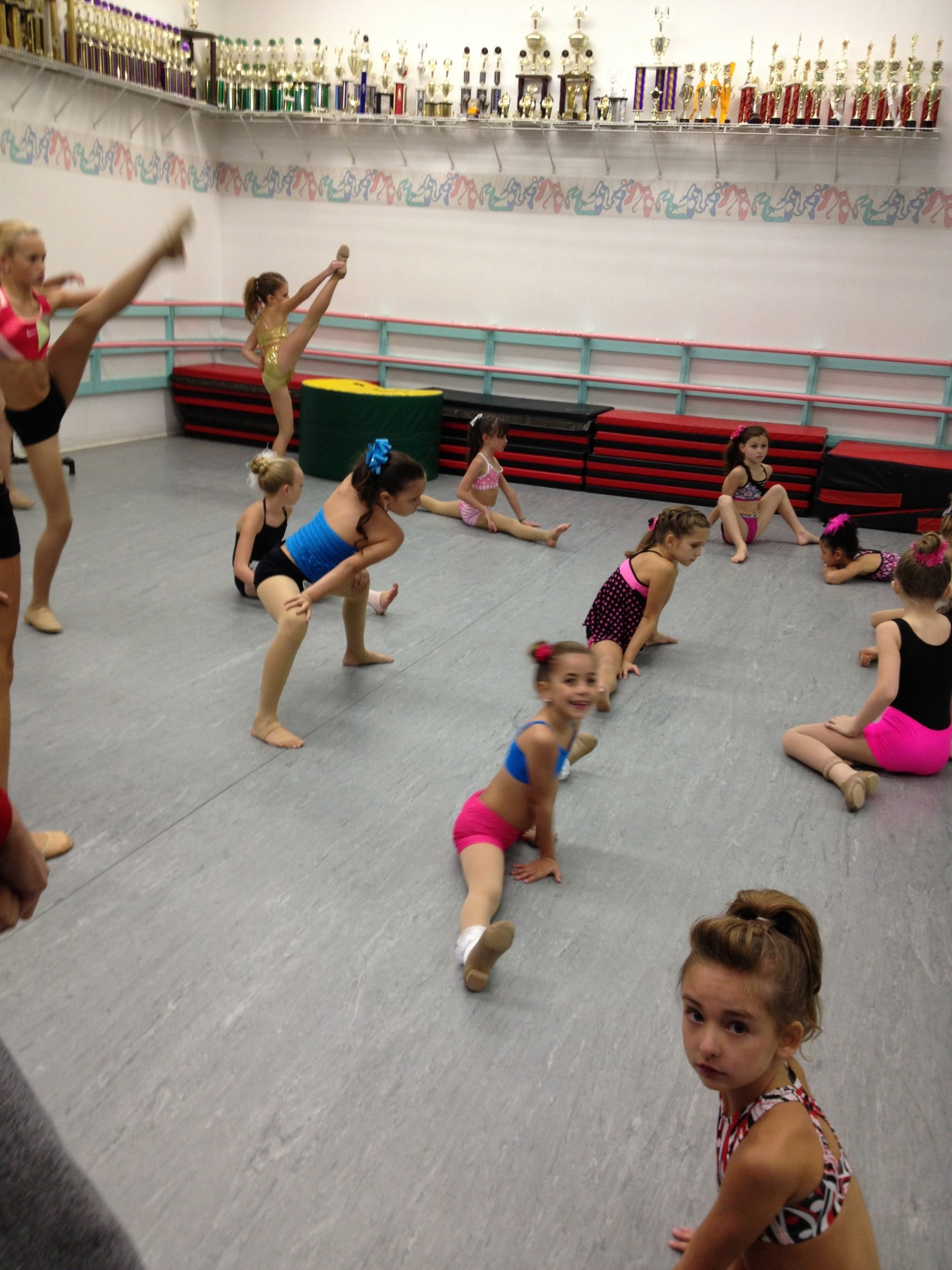 G stretching before ALDC audition 2013.jpg