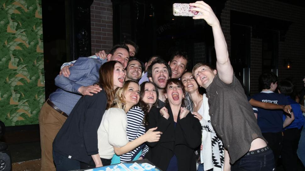 Adult cast taking a selfie at 3rd birthday party.jpg