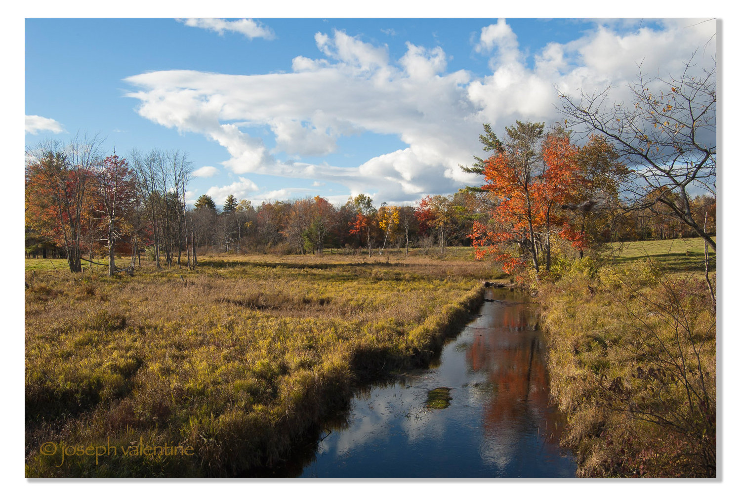 """A glorious time of year to do a little """"cross-lots sauntering,"""" as Thoreau used to say. This is near Greenfield, New Hampshire."""
