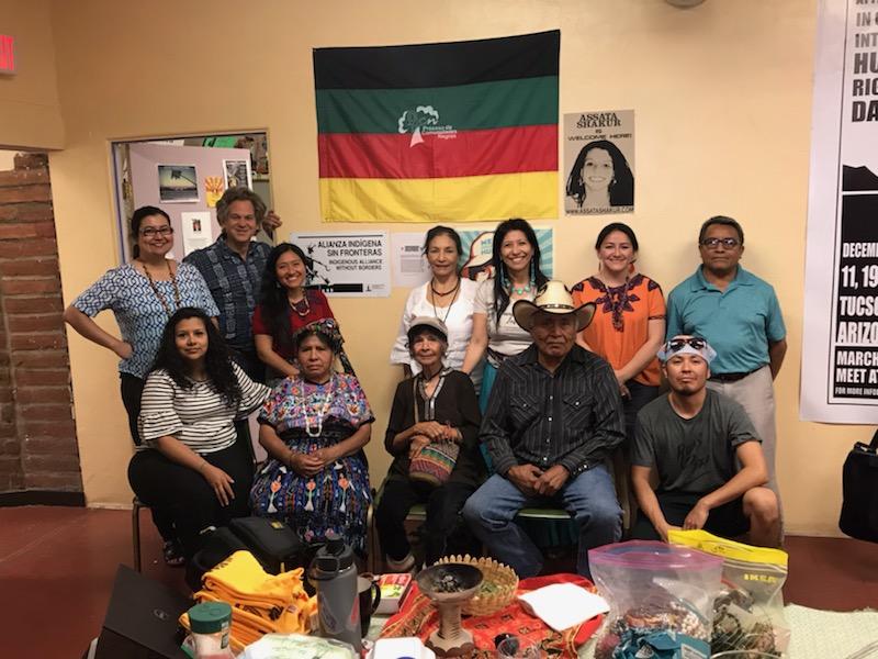 International Mayan League, Alianza Indígena Sin Fronteras, Ama Consultants and elders in strategy meeting.