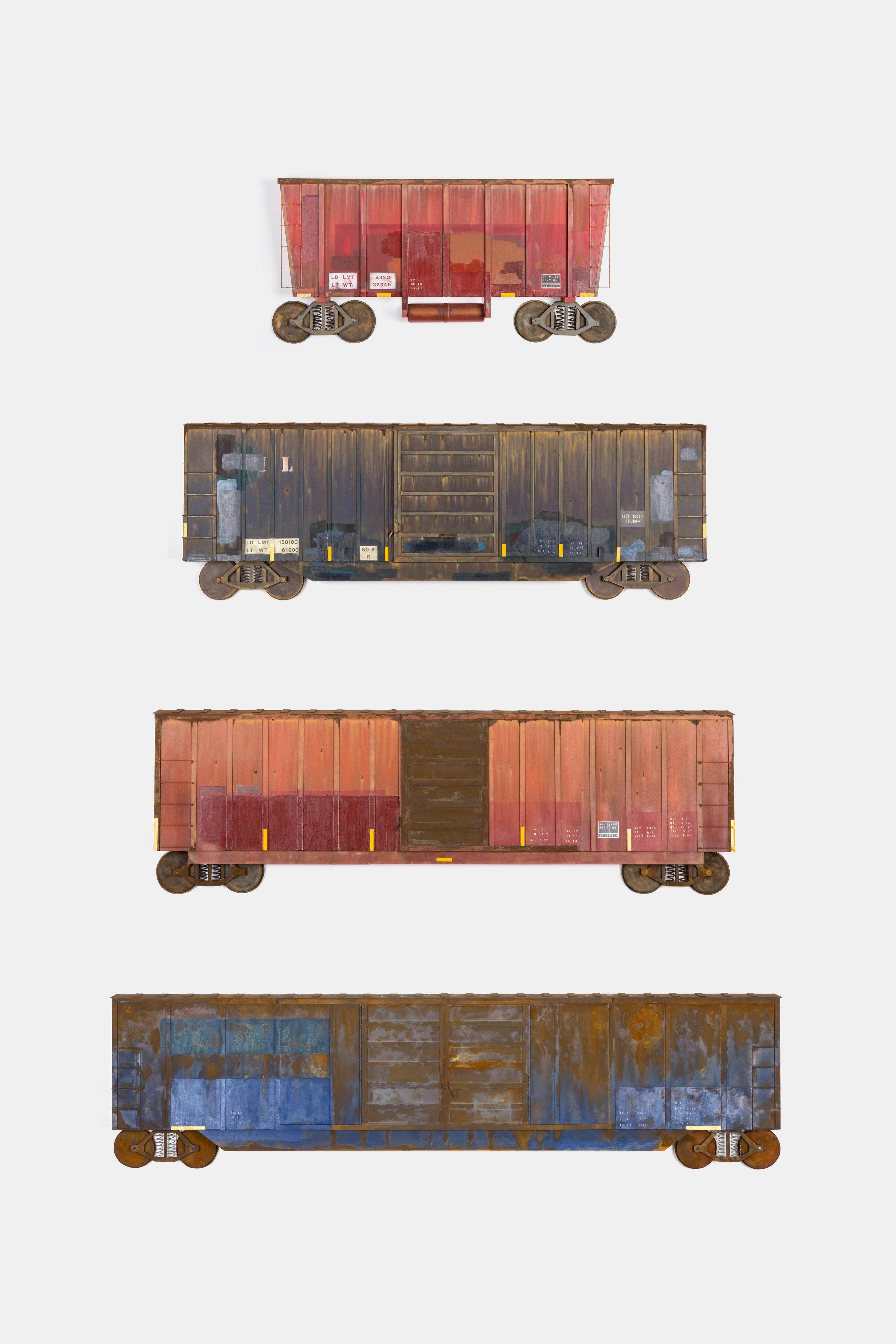 "Drew Leshko ""Trains"" Paper Sculture Series"
