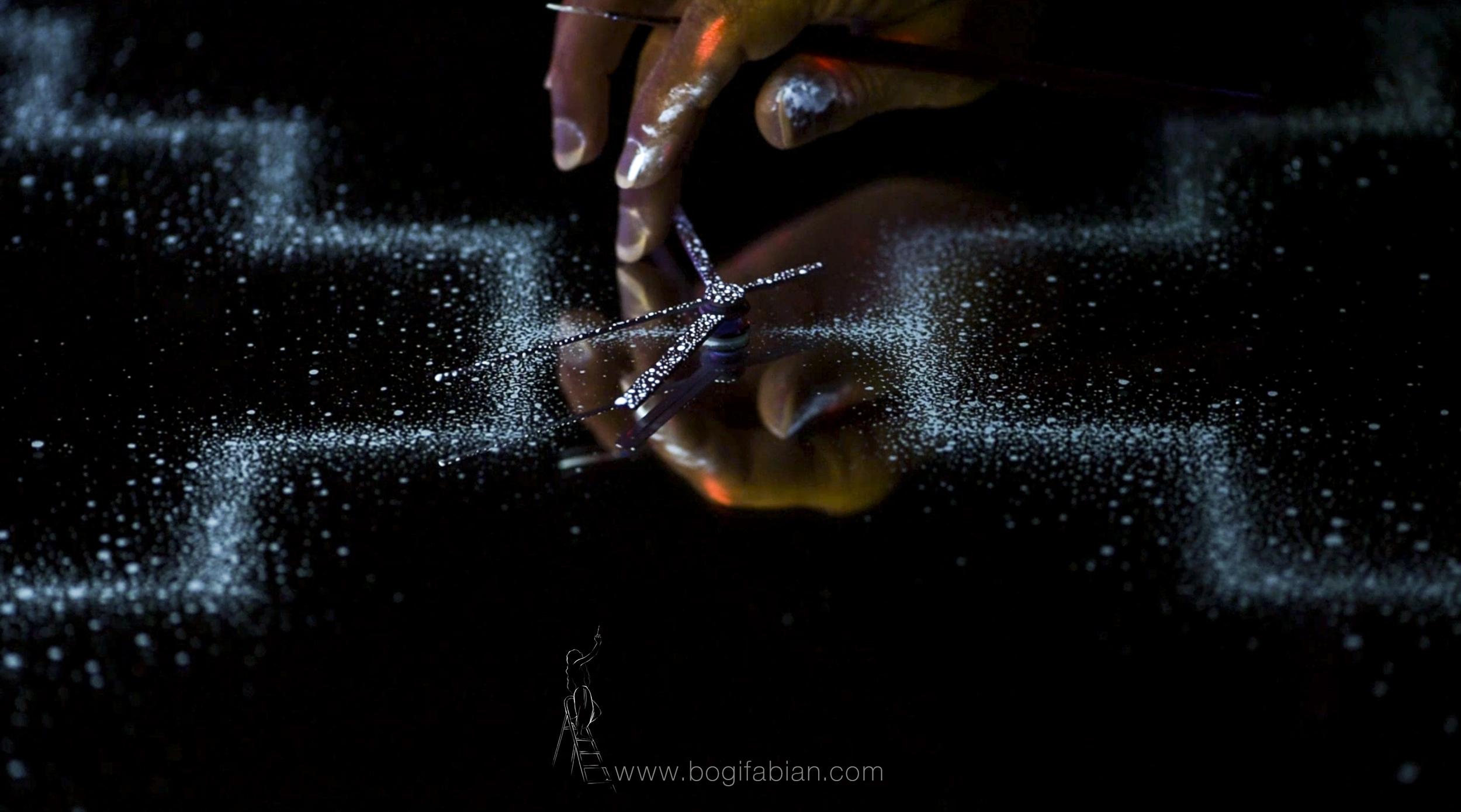 Bogi Fabian Glow in the dark mirror clock Etznab mayancalendar