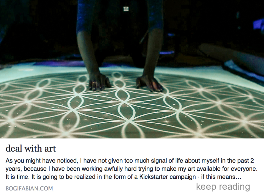 bogi fabian multiluminous print Kickstarter deal with art