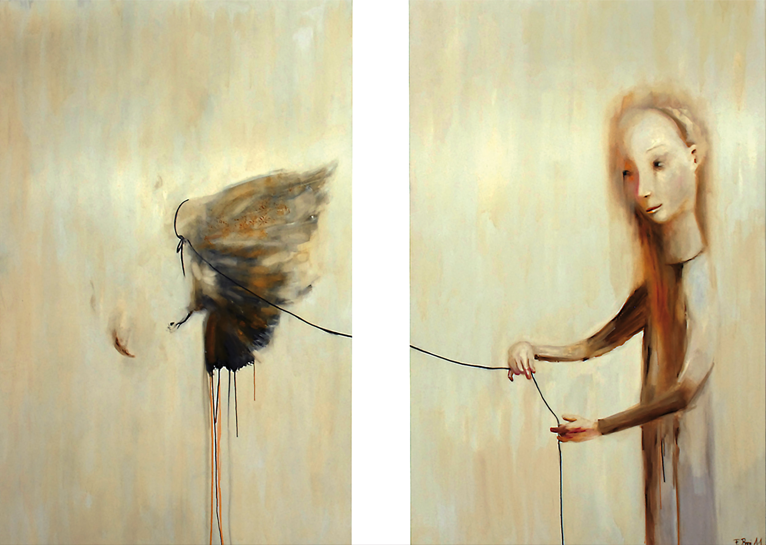 """Loslassen"" - 2009 / Oil on canvas 120 x180 cm each AVAILABLE price on request"